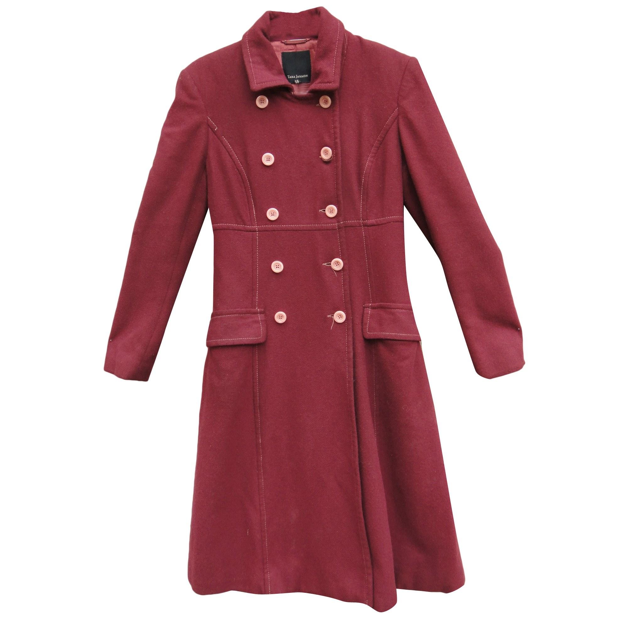 Manteau TARA JARMON Rouge, bordeaux