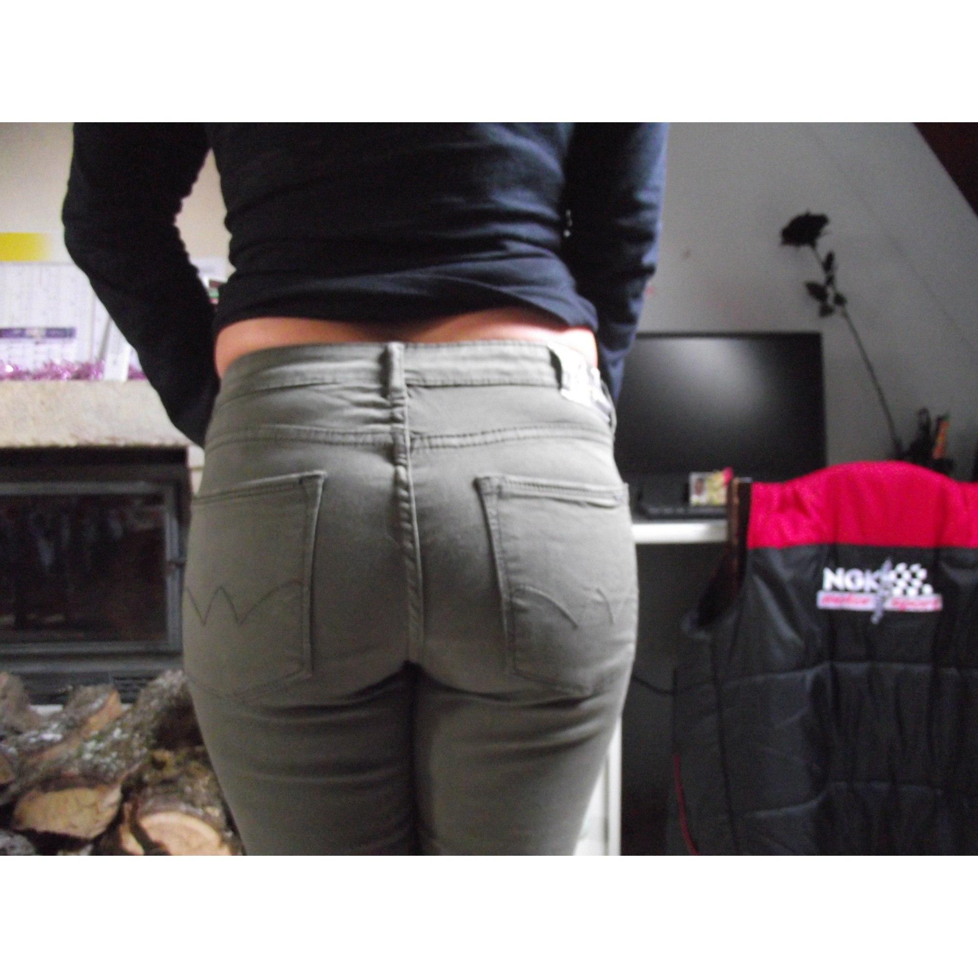 Pantalon droit LE TEMPS DES CERISES Kaki