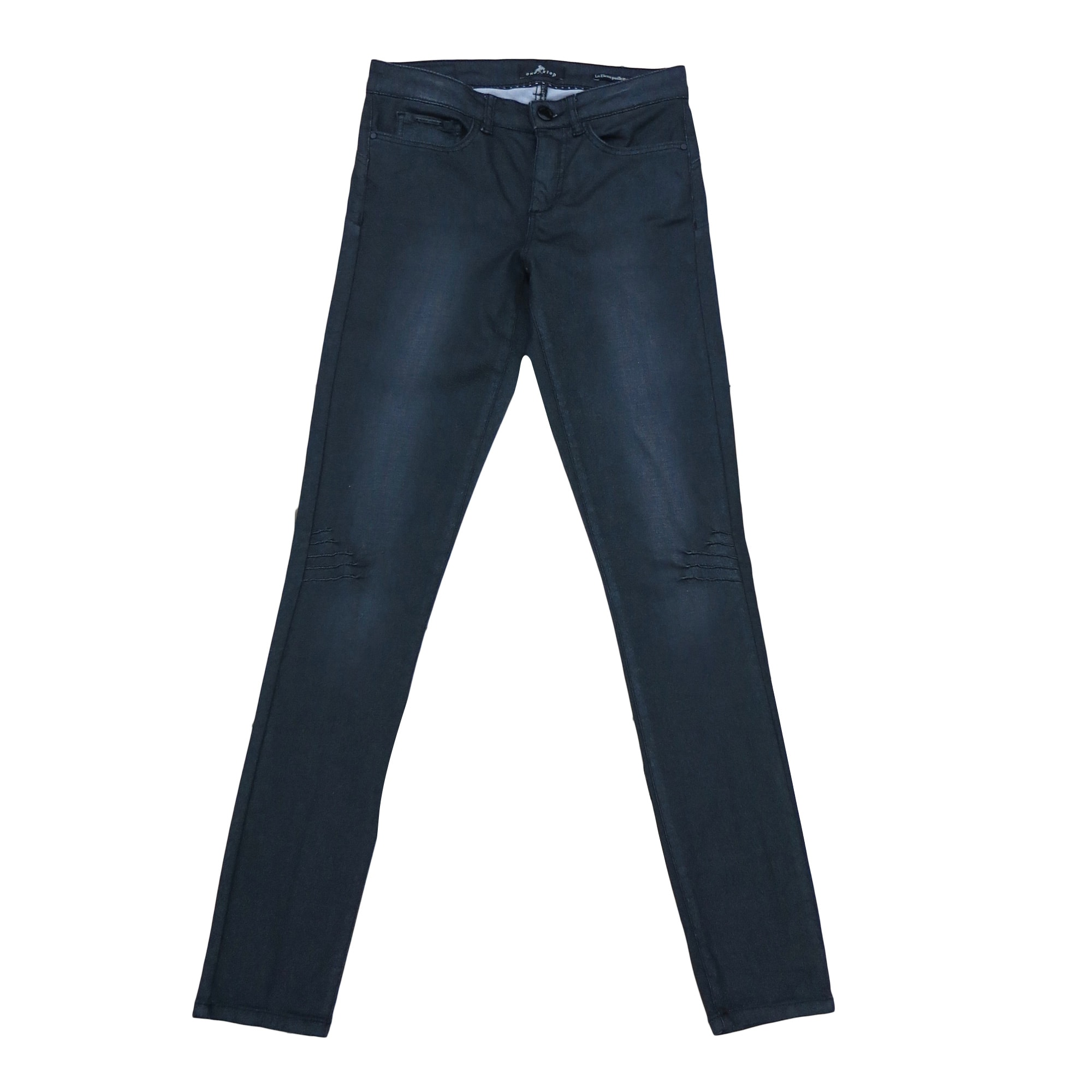 Pantalon slim, cigarette ONE STEP Noir