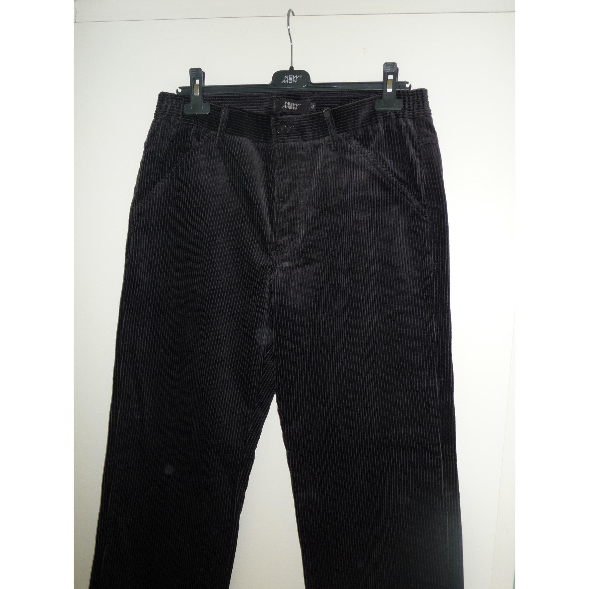 Pantalon droit NEW MAN Noir