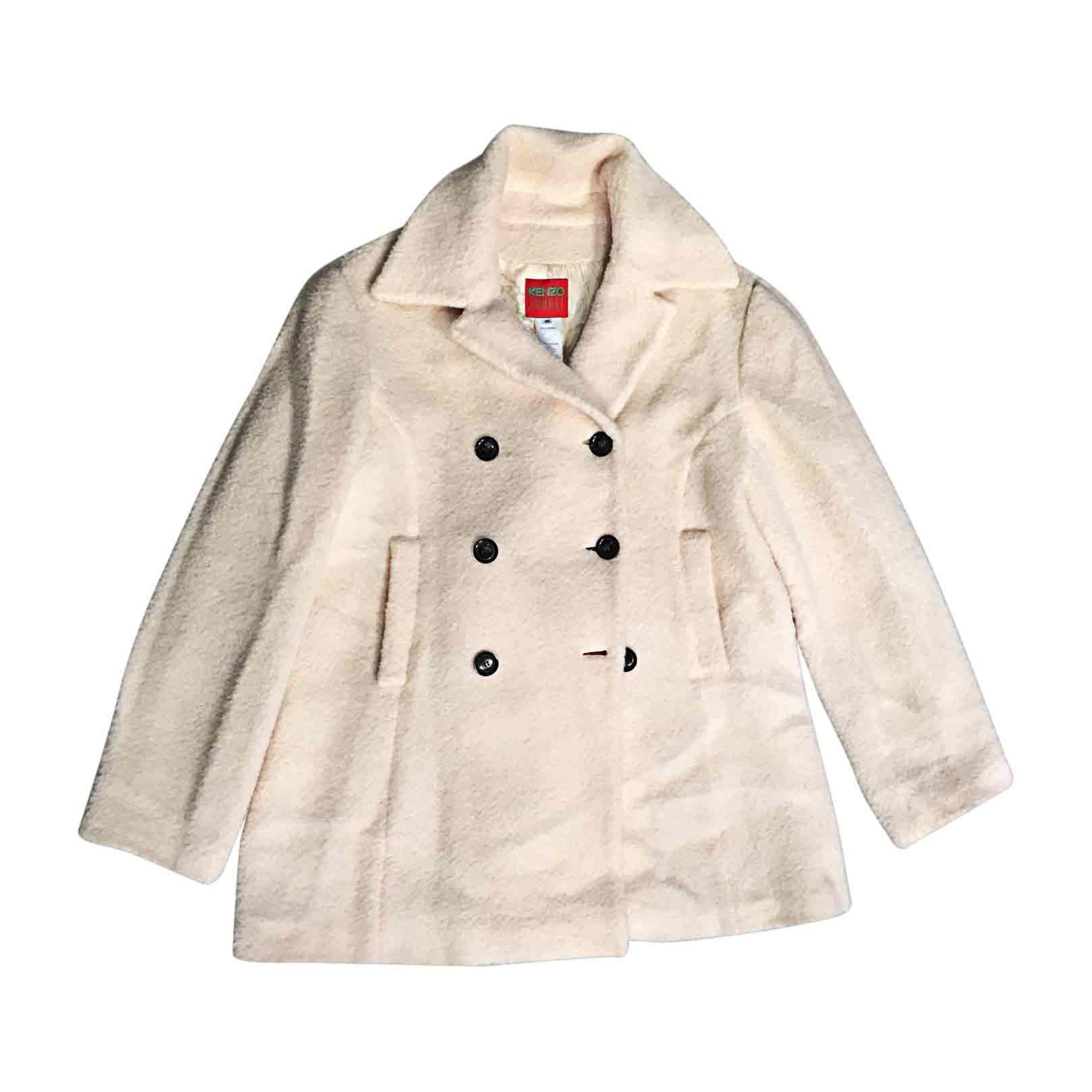 Manteau en fourrure KENZO Blanc, blanc cassé, écru
