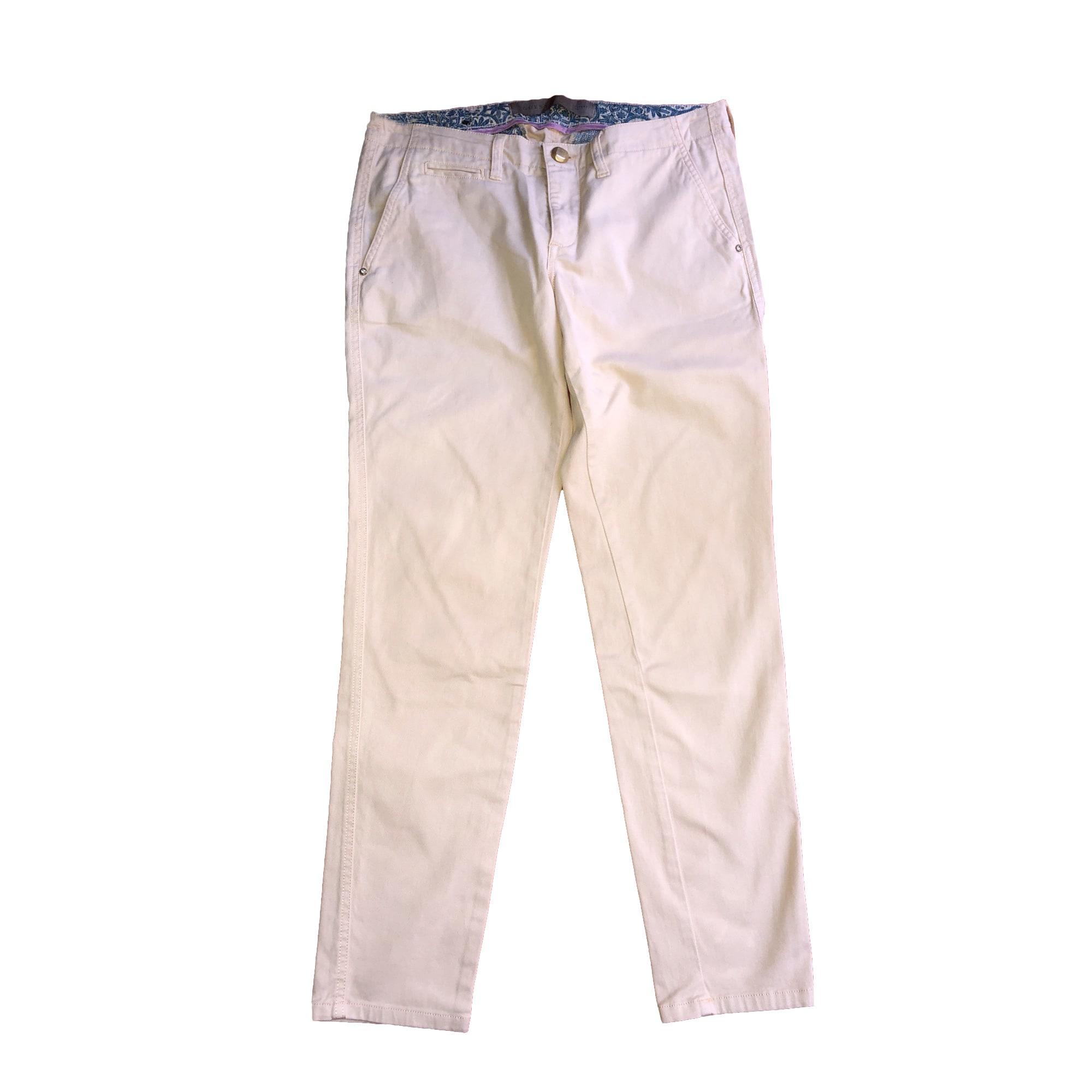 Jeans droit GUESS Beige, camel