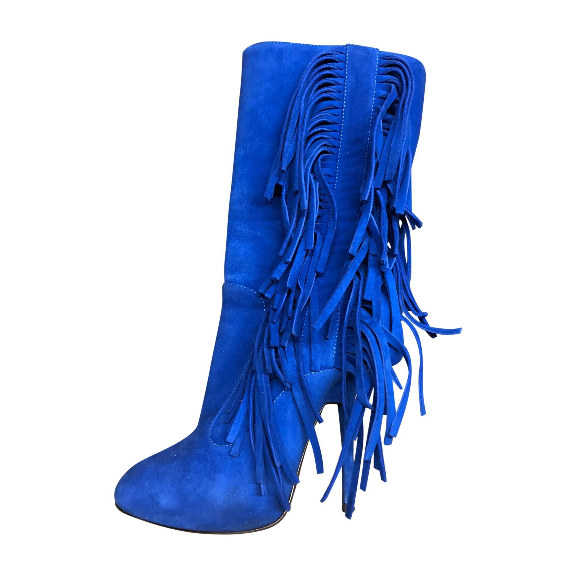 Bottes à talons GIUSEPPE ZANOTTI Bleu, bleu marine, bleu turquoise
