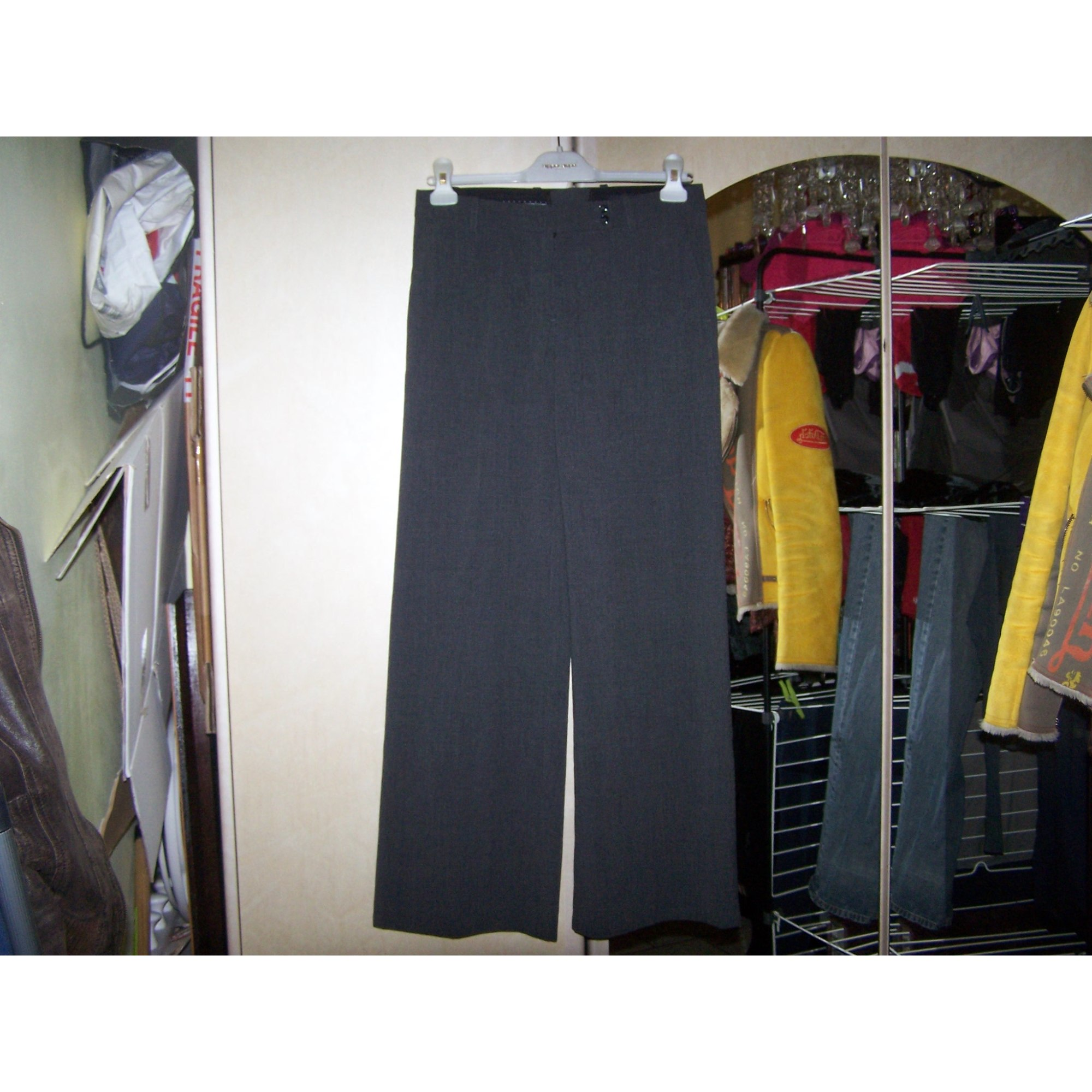 Pantalon large H&M Gris, anthracite