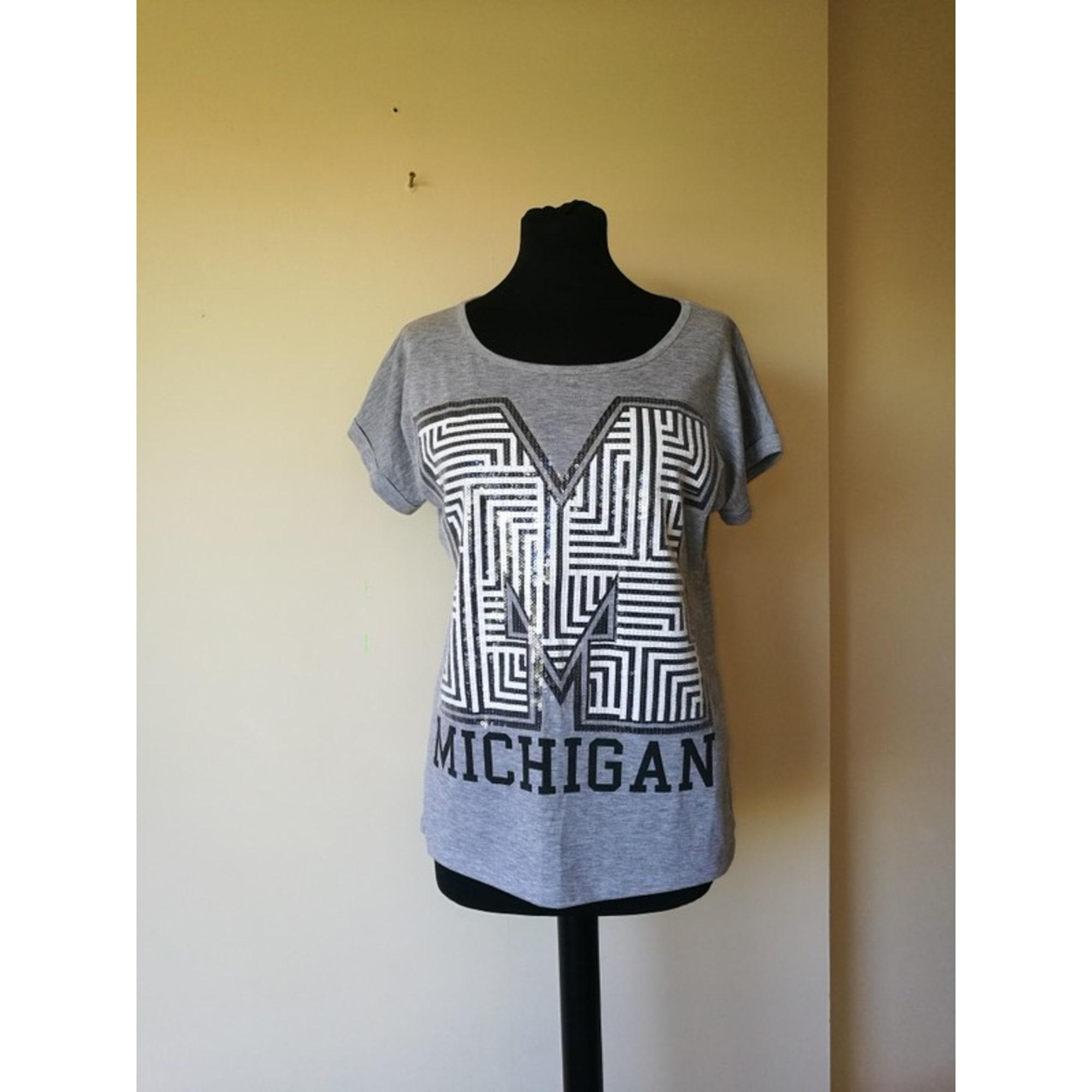 Top, tee-shirt FB SISTER Gris, anthracite