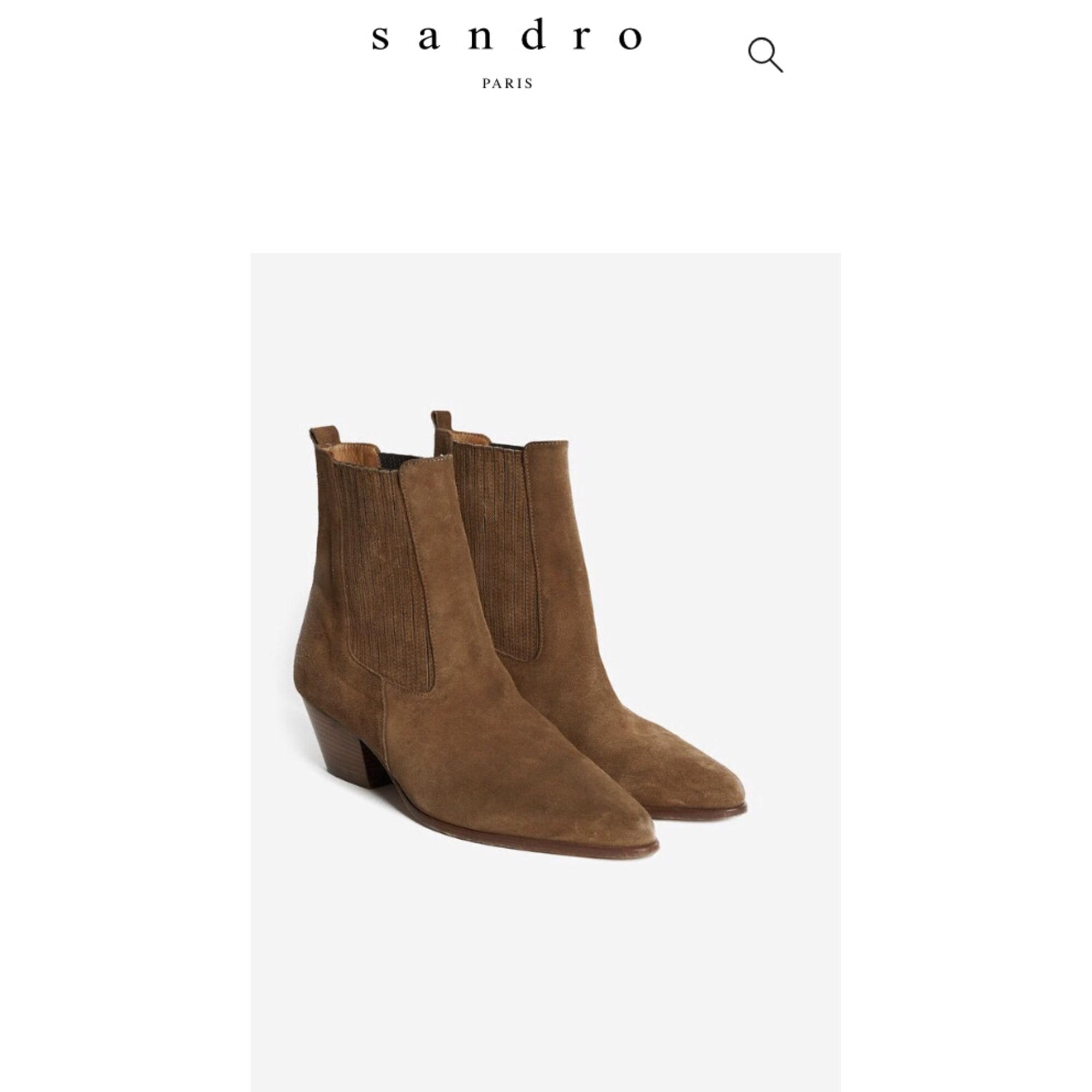 sandro bottines camel