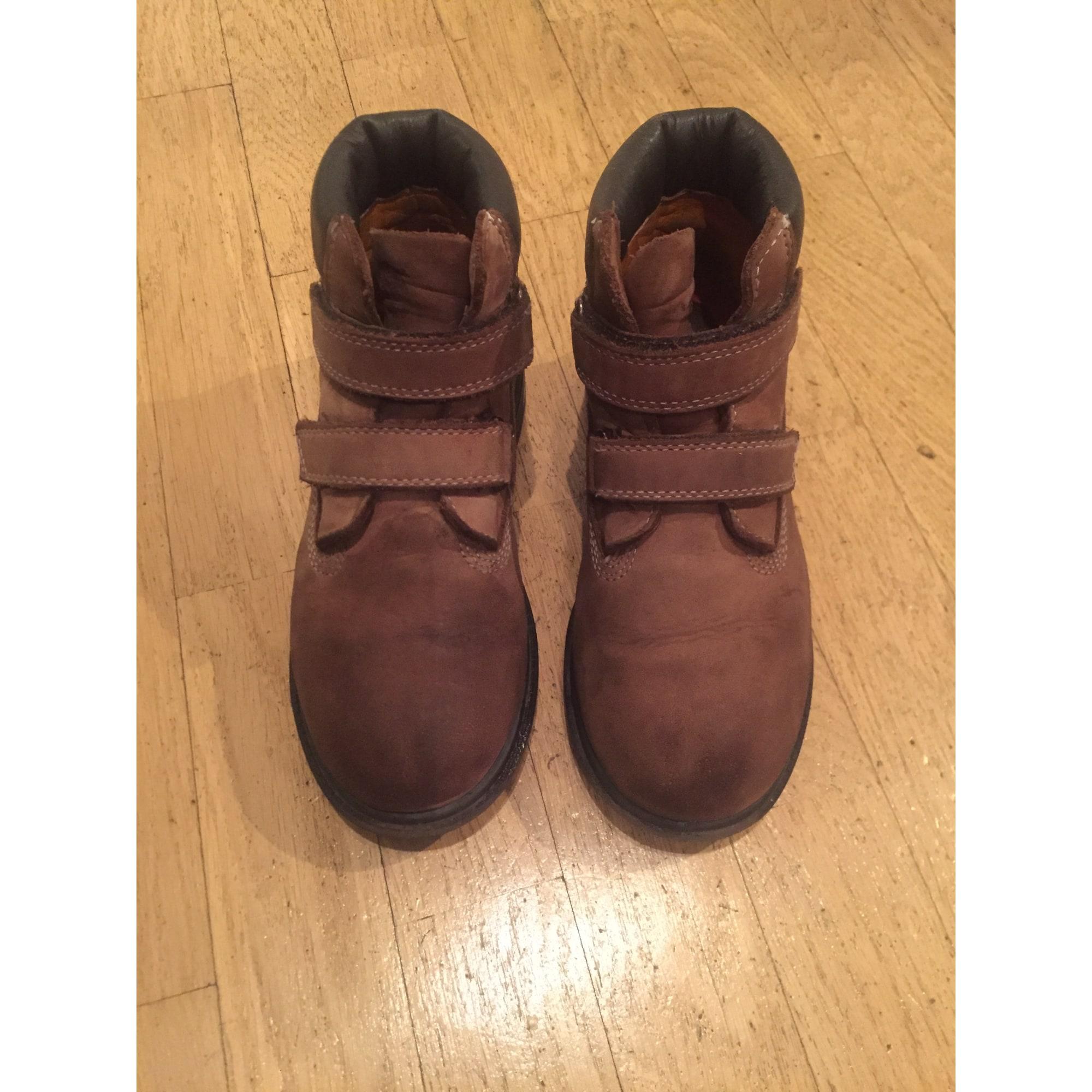 Chaussures à scratch TIMBERLAND Marron