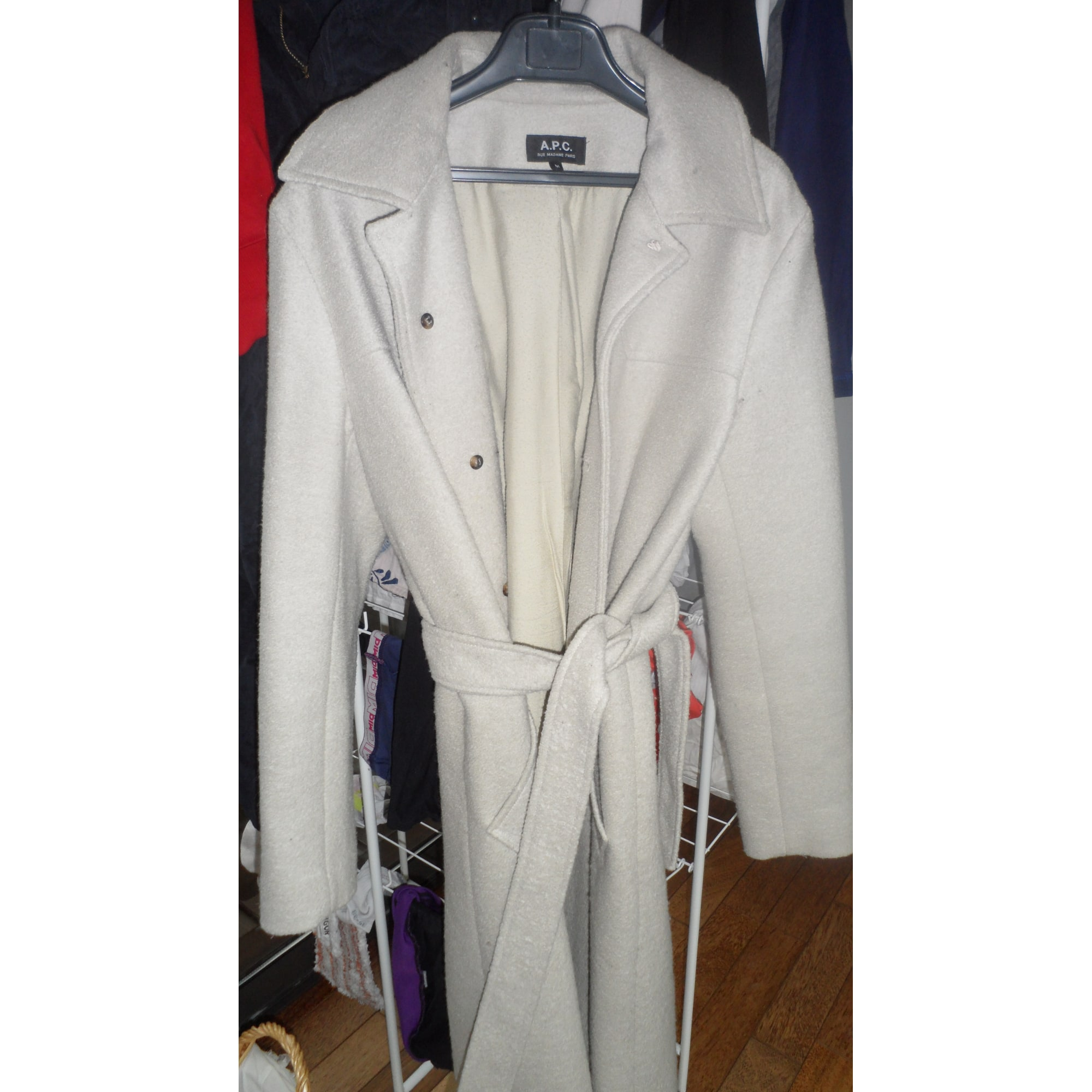 Manteau APC Blanc, blanc cassé, écru