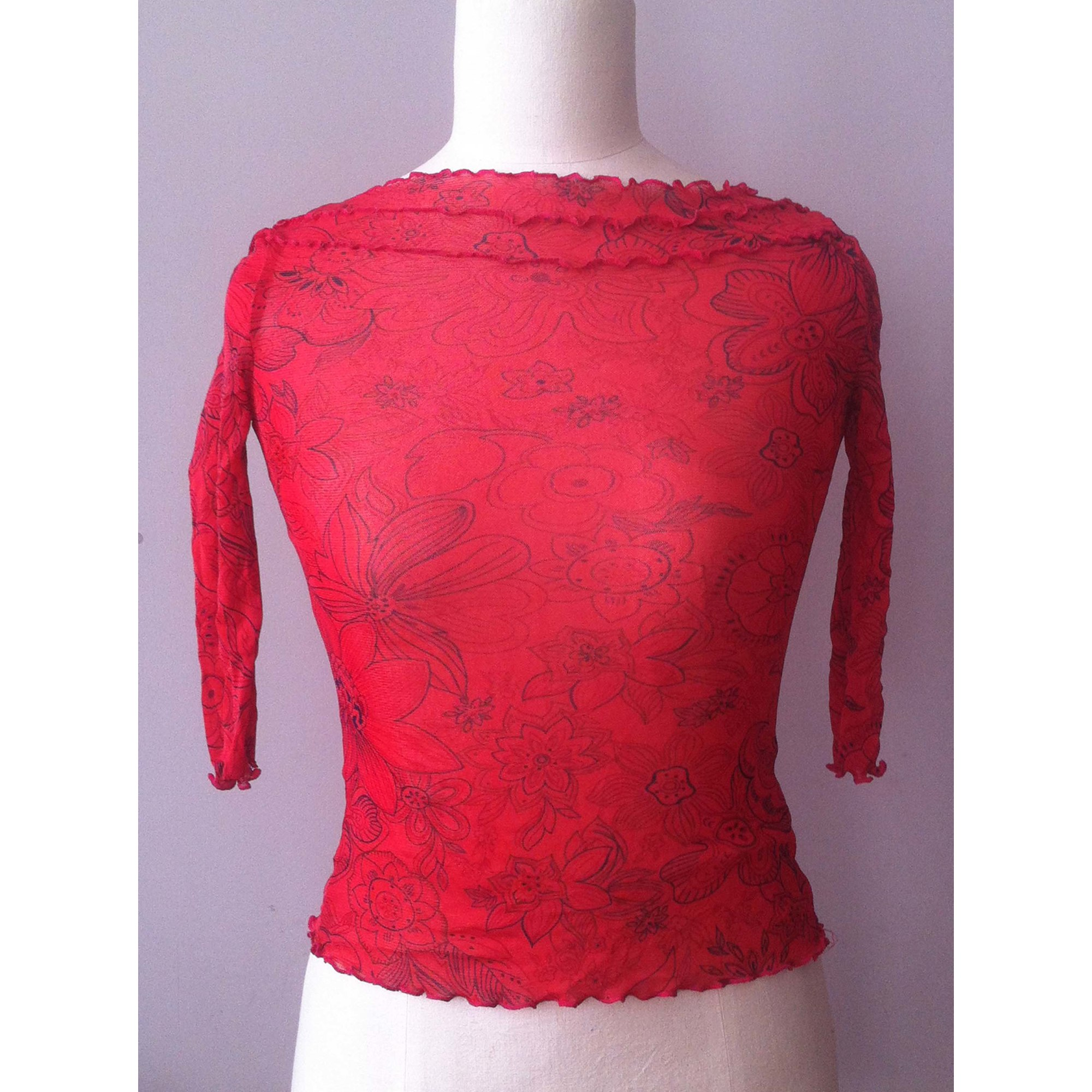Top, tee-shirt ONE STEP Rouge, bordeaux