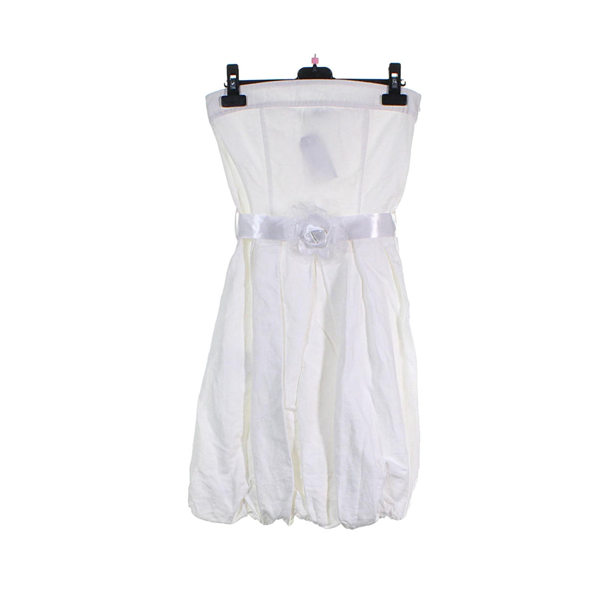 Robe courte RINASCIMENTO Blanc, blanc cassé, écru