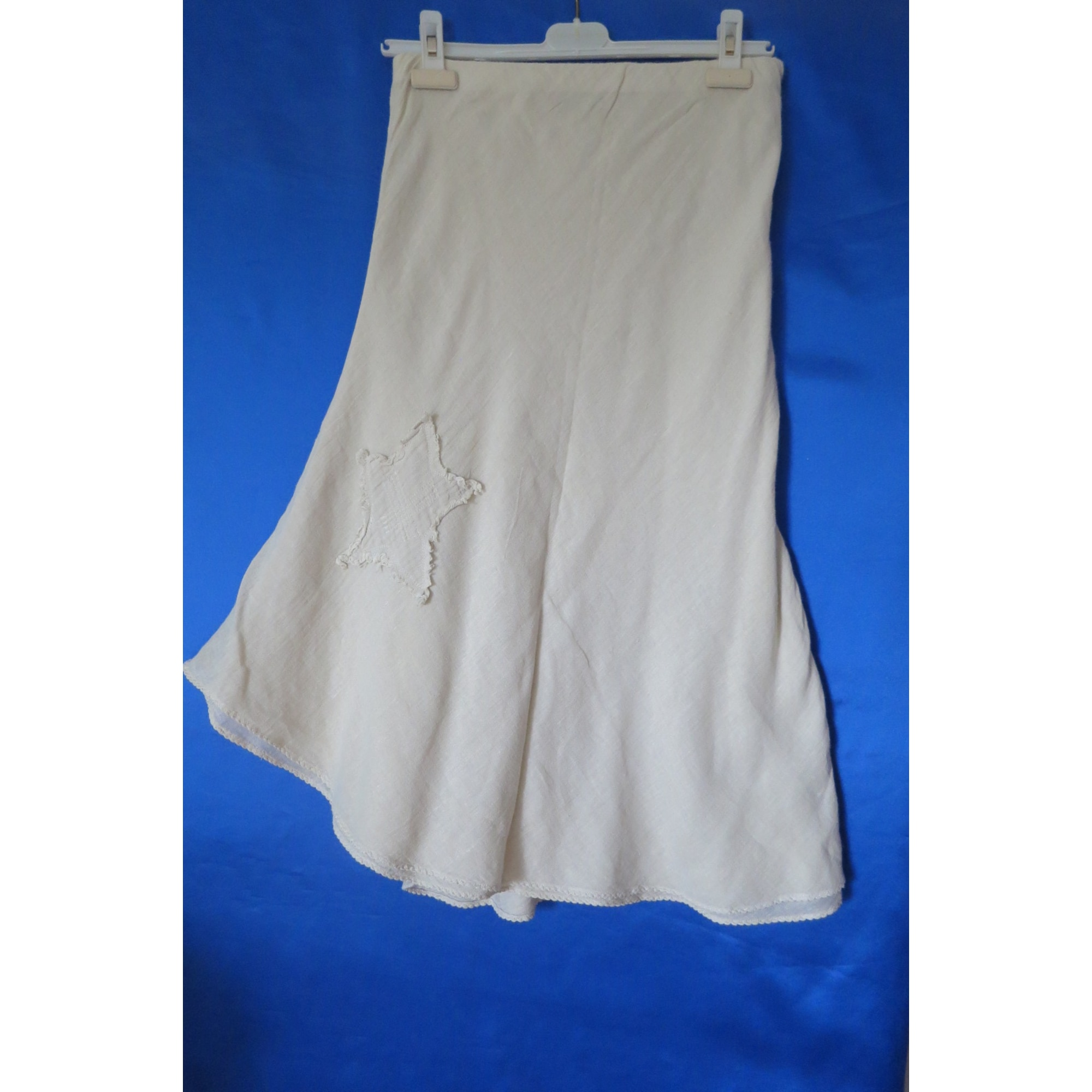 Jupe mi-longue SUD EXPRESS Blanc, blanc cassé, écru