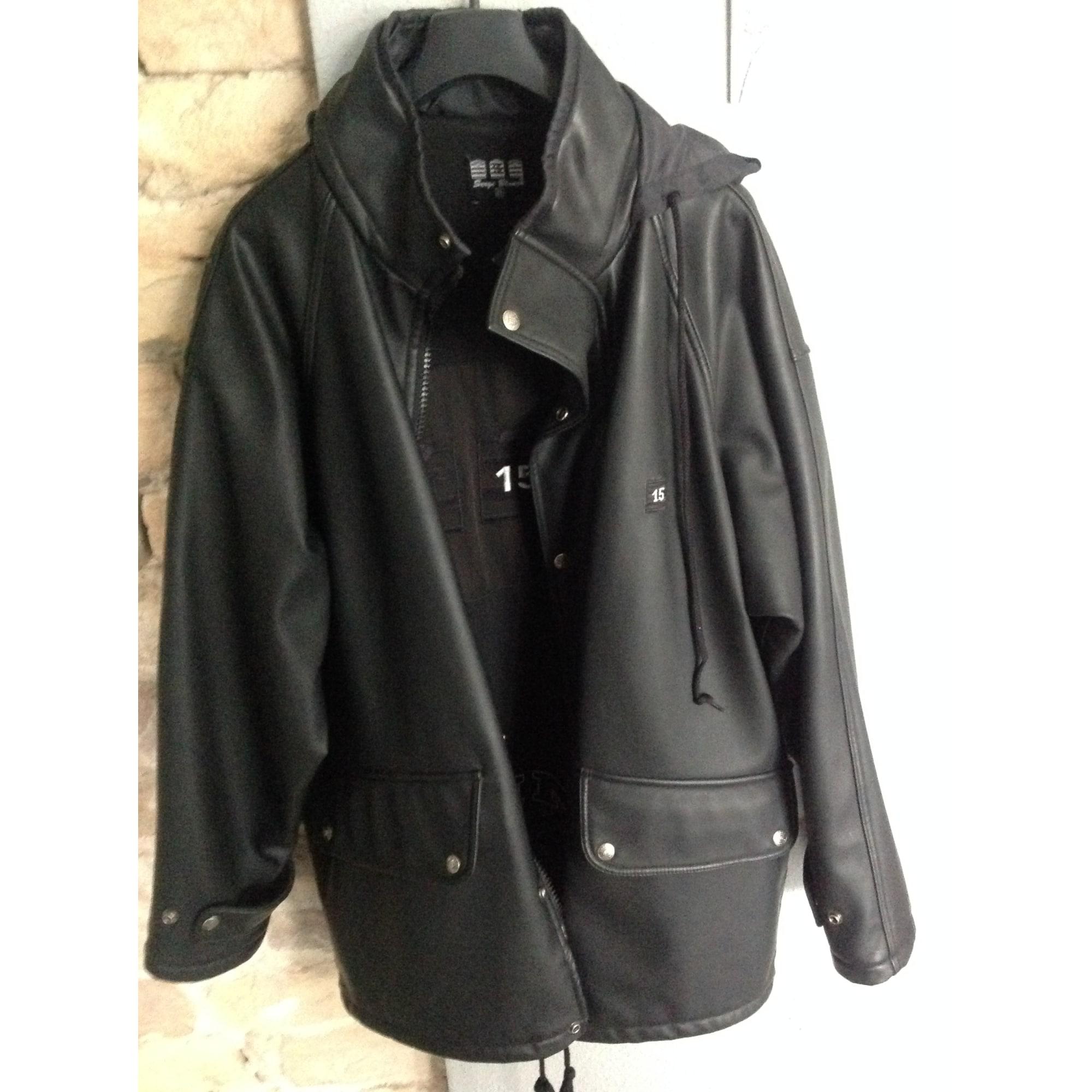Parka SERGE BLANCO 58 (XL) noir vendu par Mathhuta 7201538