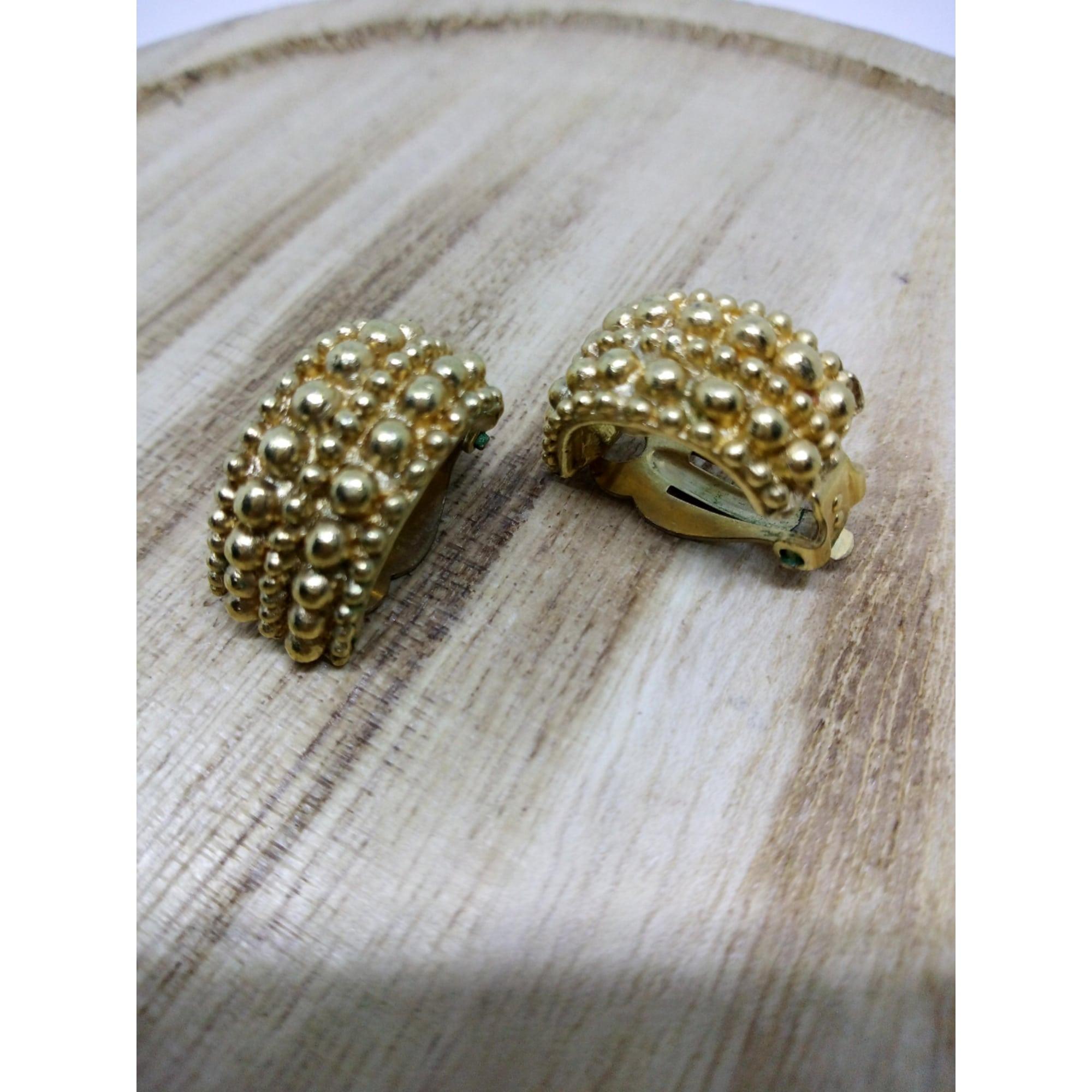 Boucles d'oreille JACQUES ESTEREL Doré, bronze, cuivre