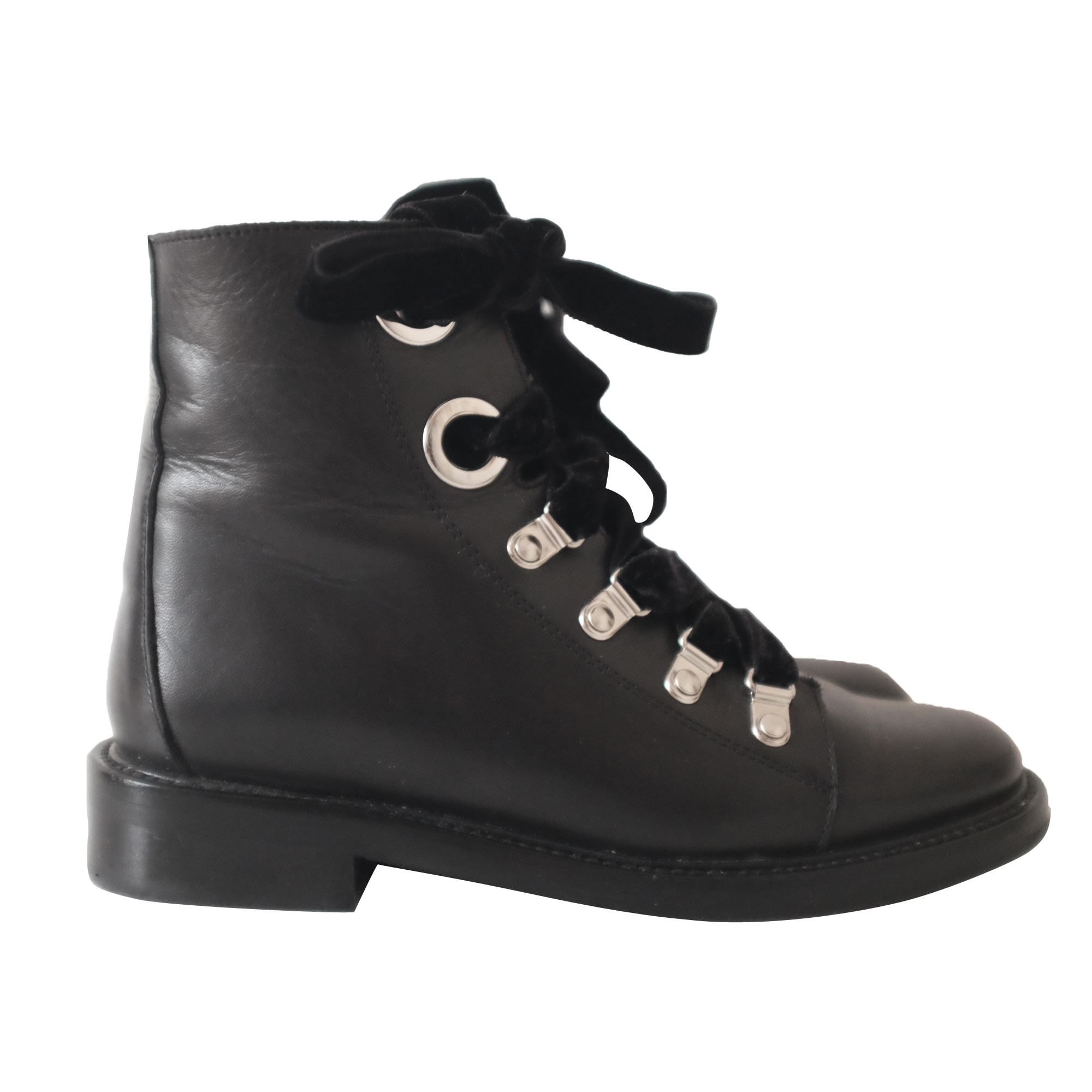 bottines claudie pierlot lacets velours