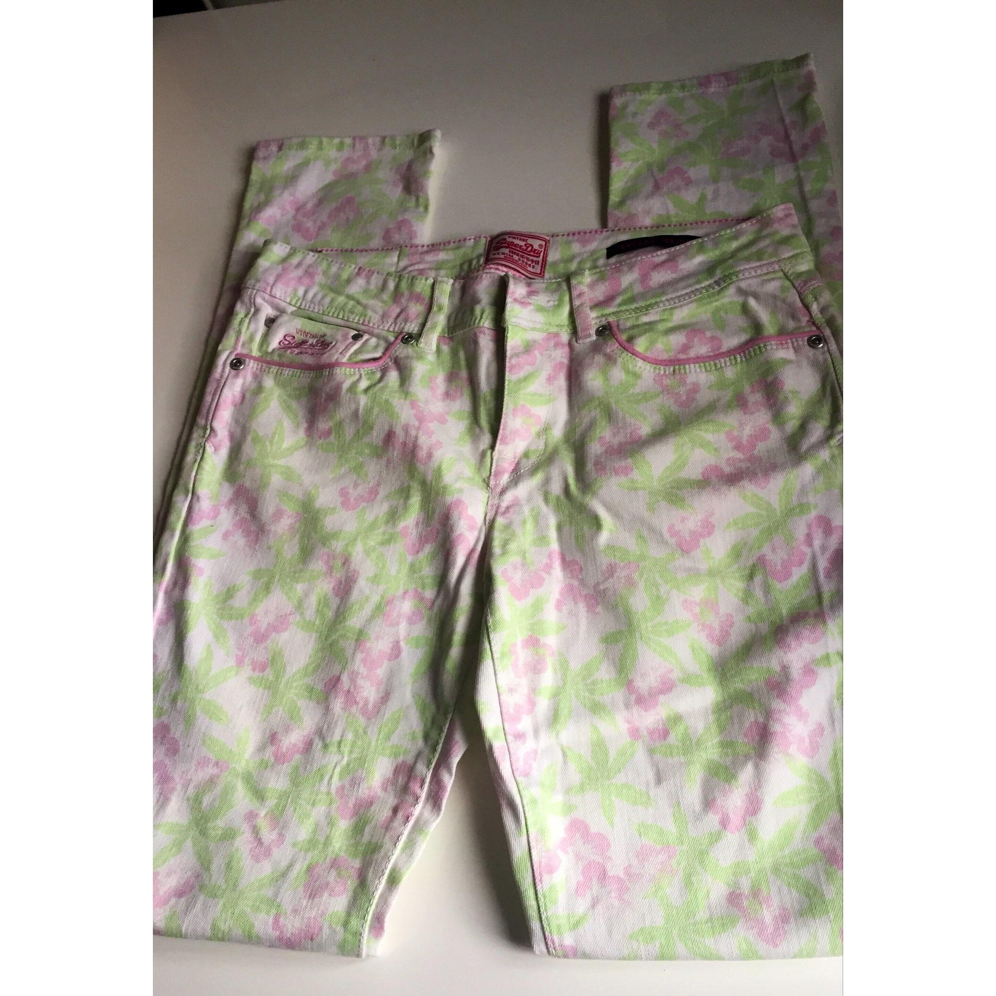 Pantalon slim, cigarette SUPERDRY Multicouleur