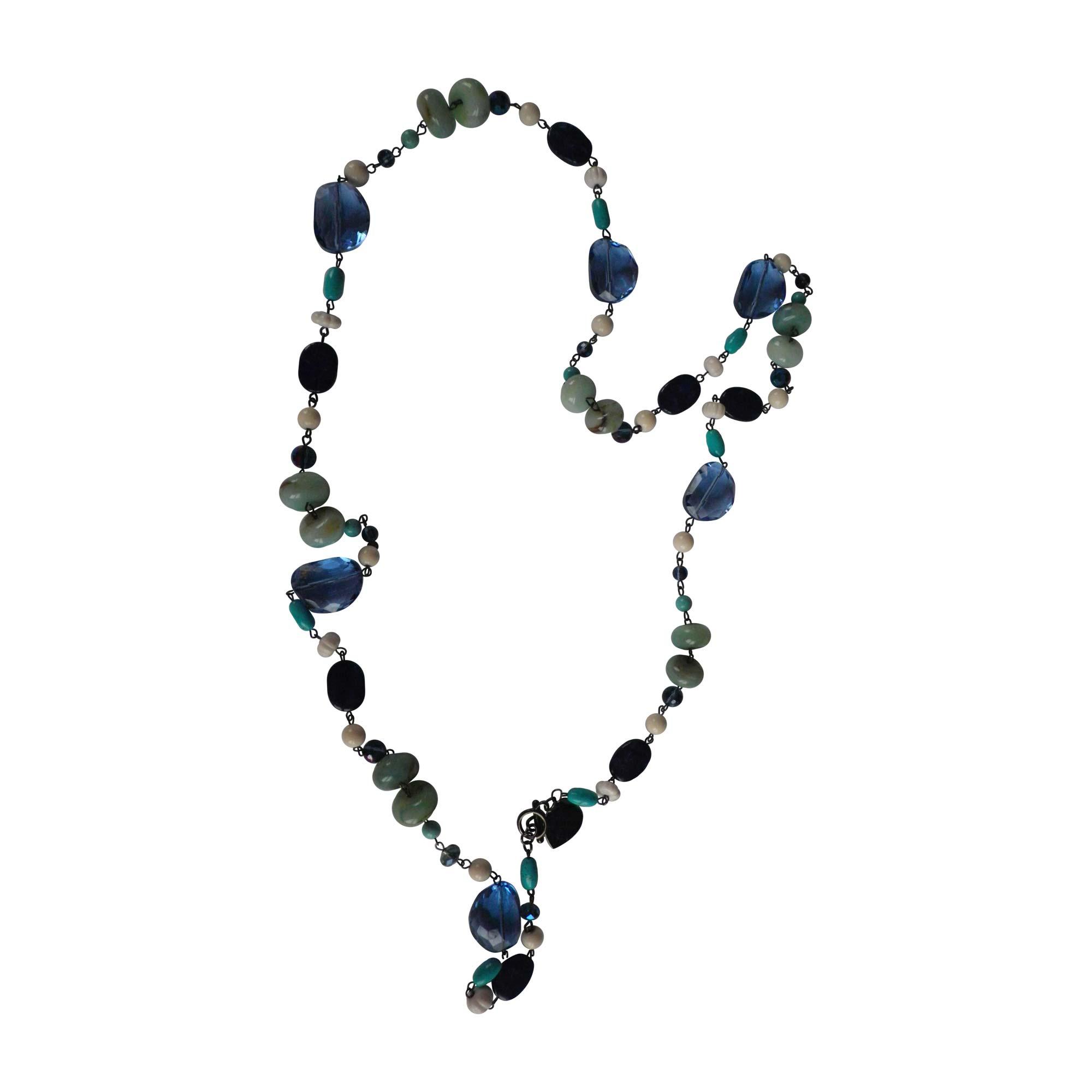 Sautoir FURLA Bleu, bleu marine, bleu turquoise