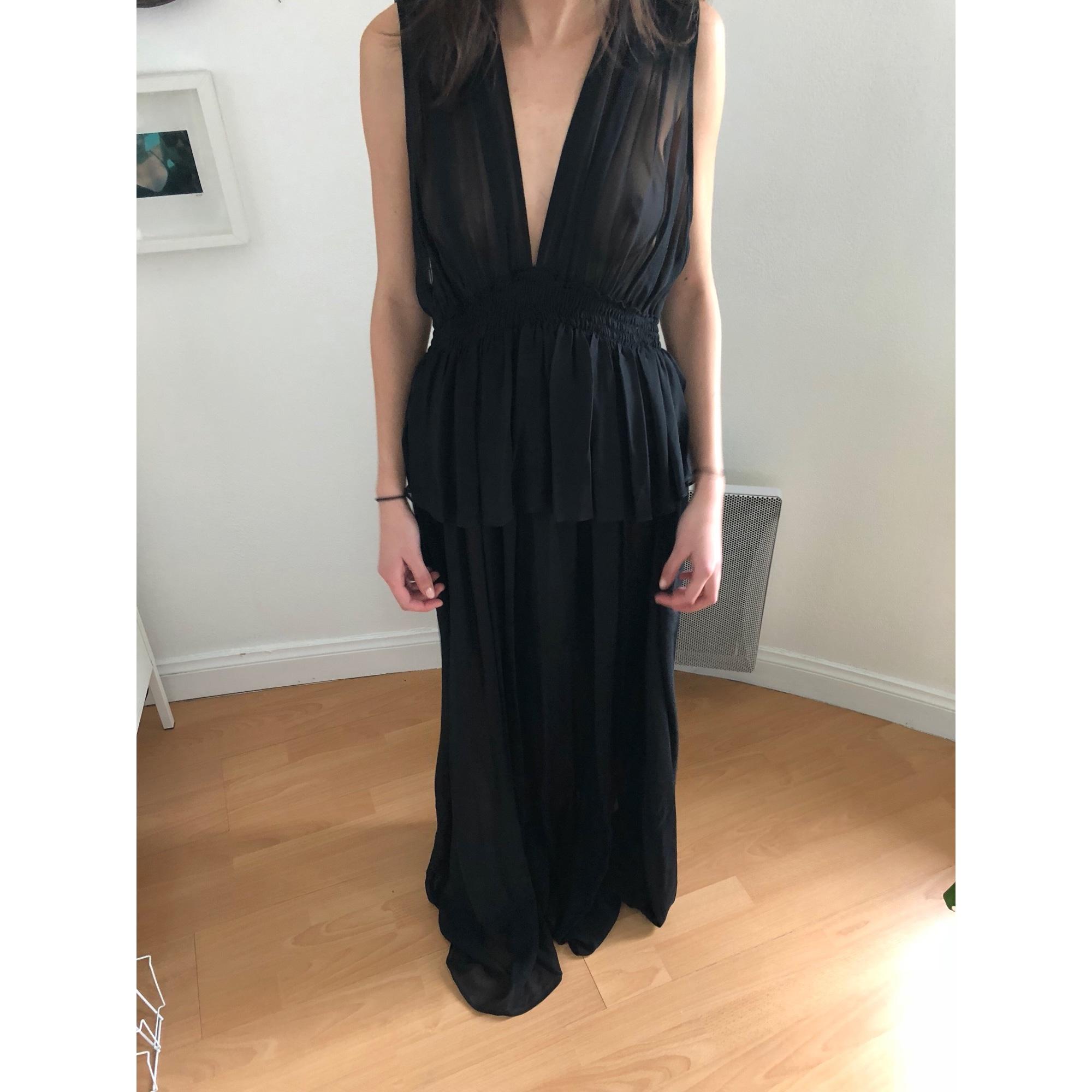 Robe Longue Vanessa Bruno 42 L Xl T4 Noir 7286851