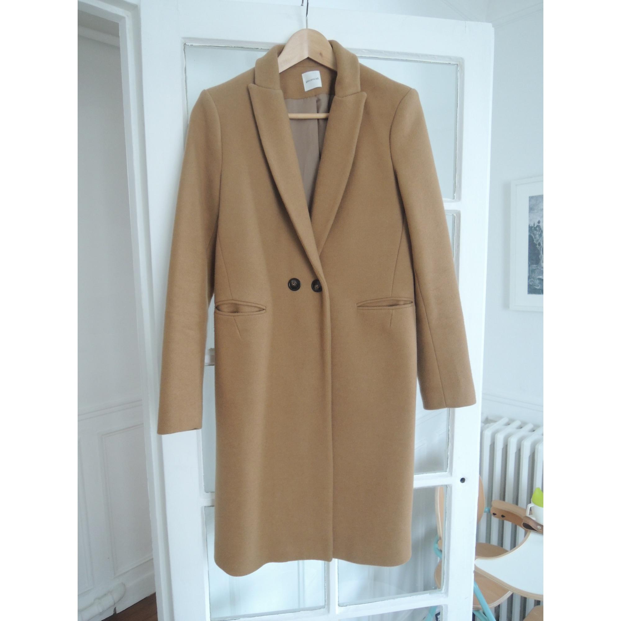 Manteau PROMOD 36 (S, T1) beige vendu par Bio 75537204 7291343