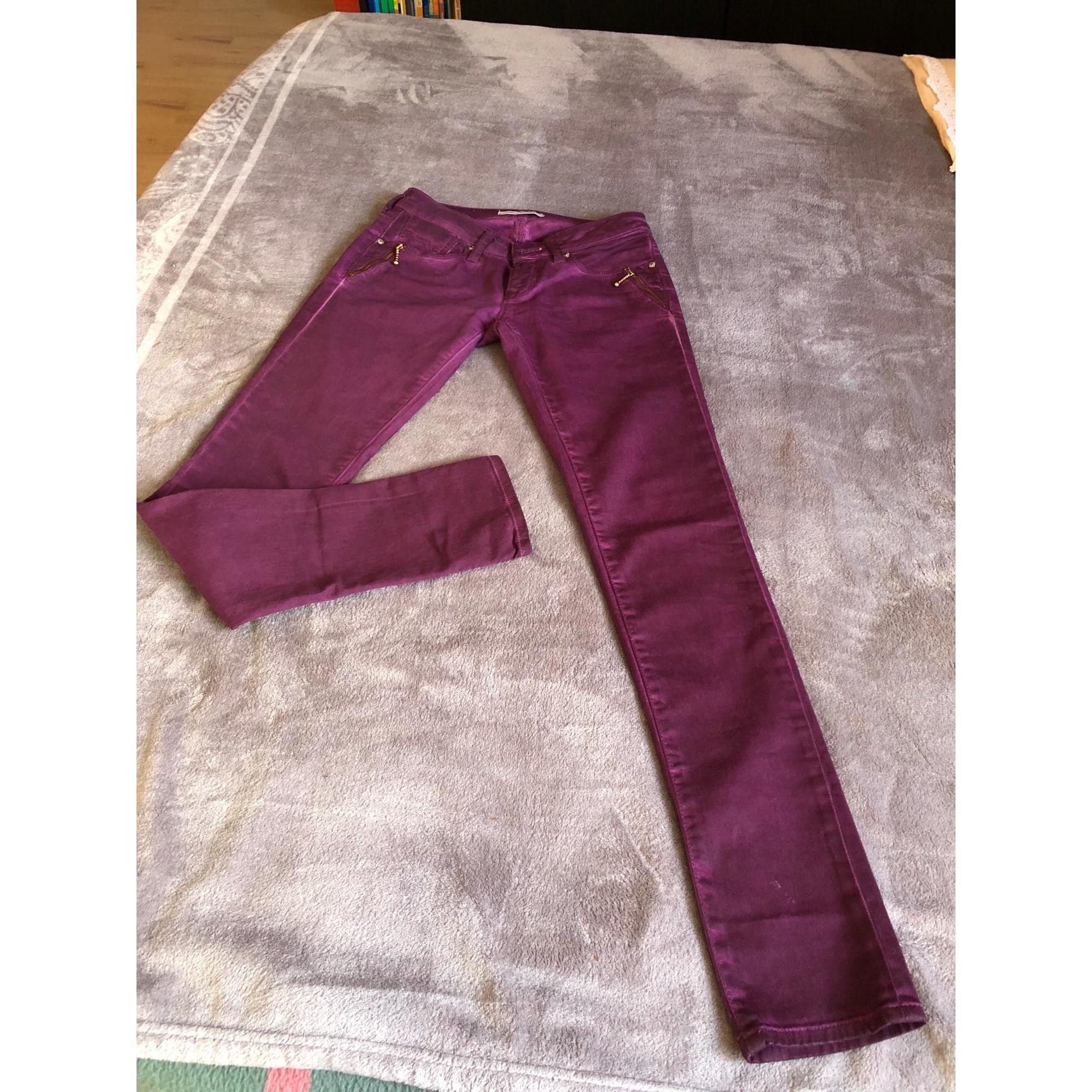 Jeans slim MAVI Violet, mauve, lavande