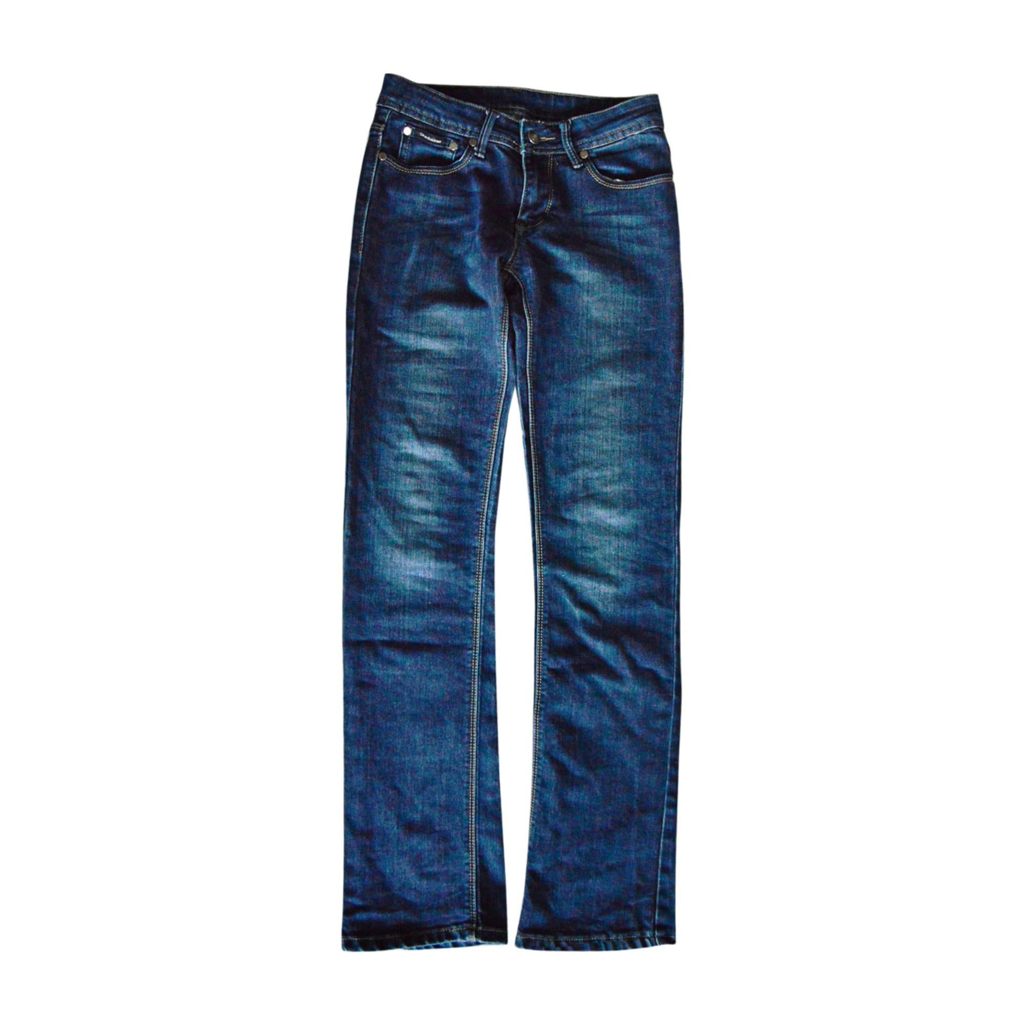 Jeans droit CALVIN KLEIN Bleu, bleu marine, bleu turquoise