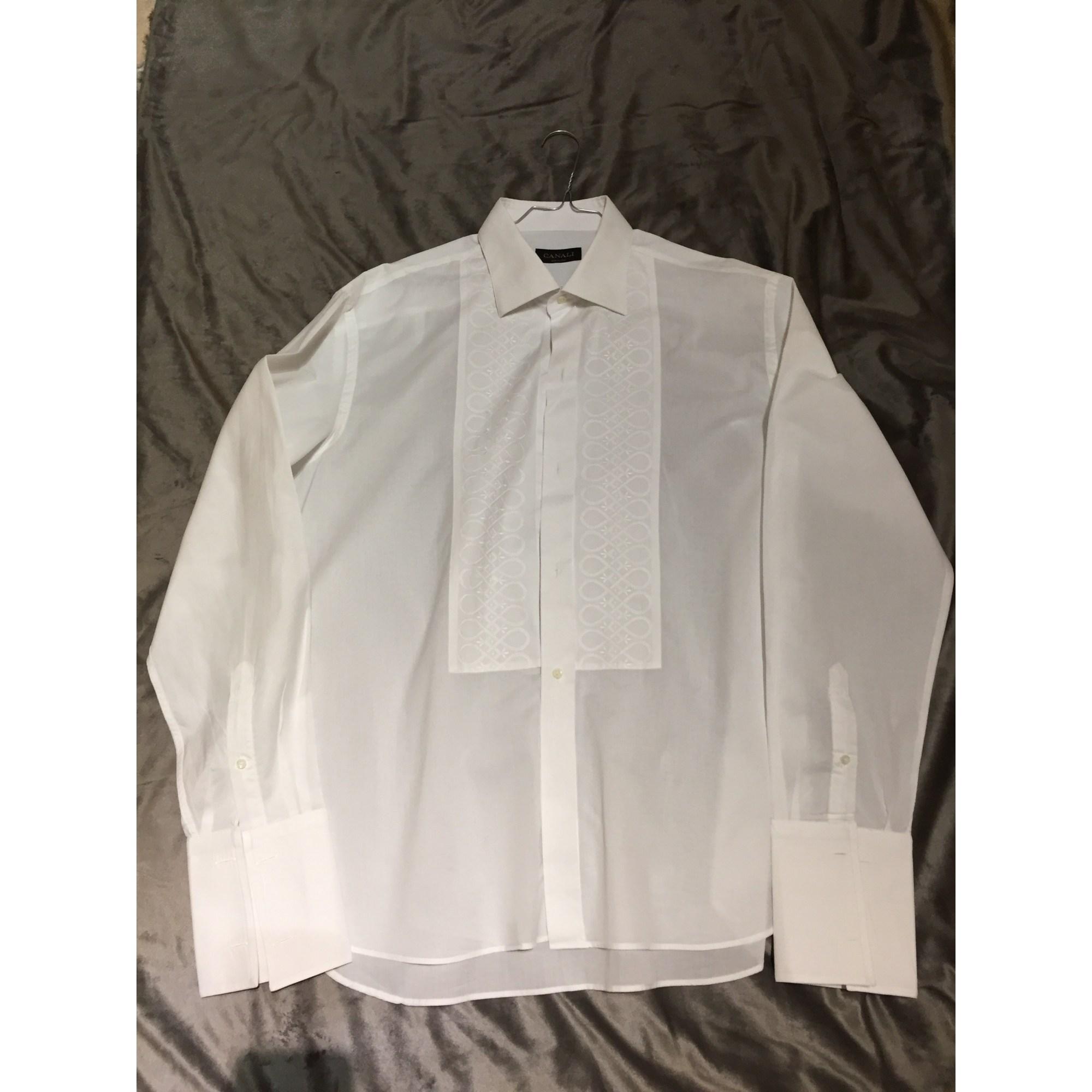 Chemise CANALI Blanc, blanc cassé, écru