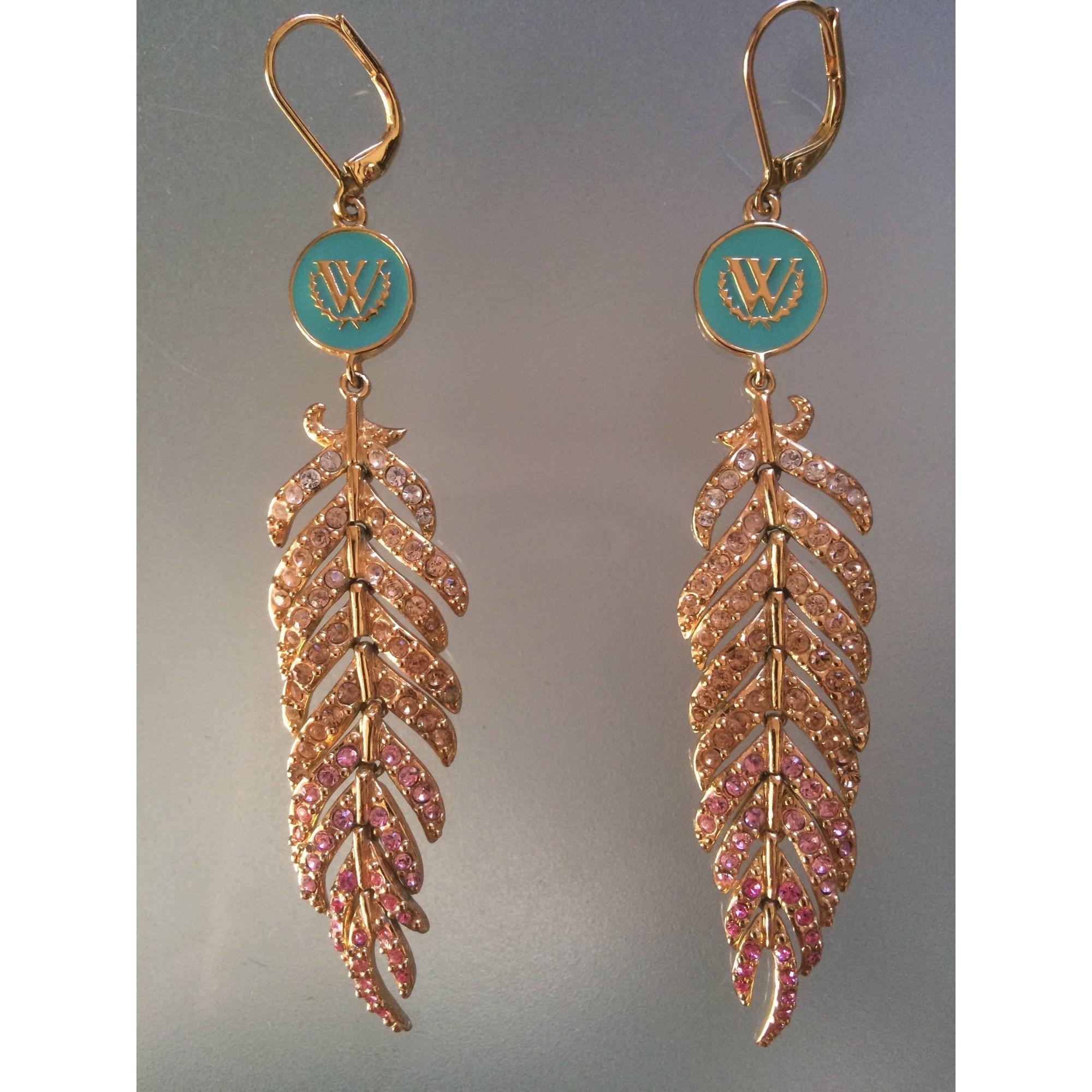 Boucles d'oreille WILDFOX Doré, bronze, cuivre