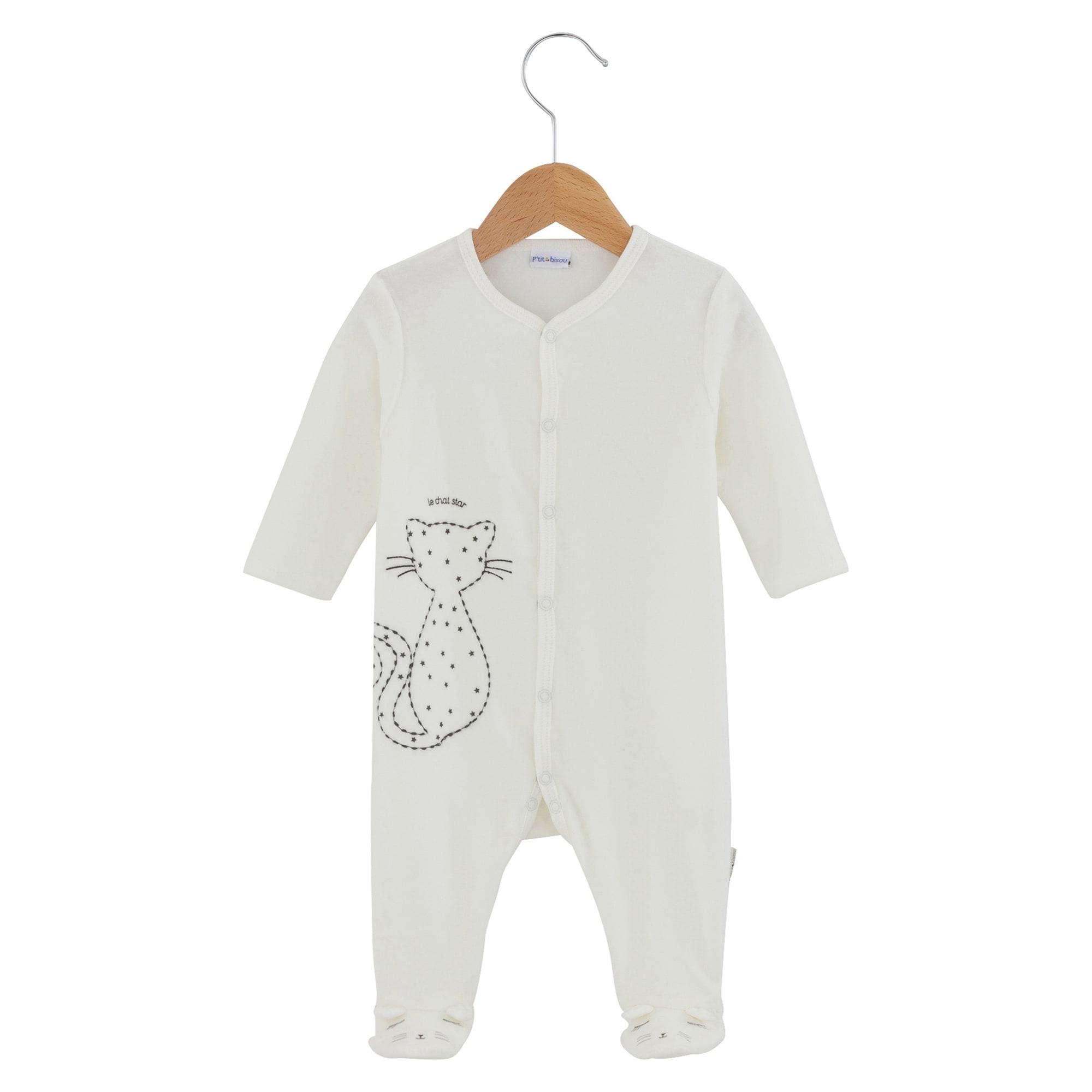 Pyjama P'TIT BISOU Blanc, blanc cassé, écru