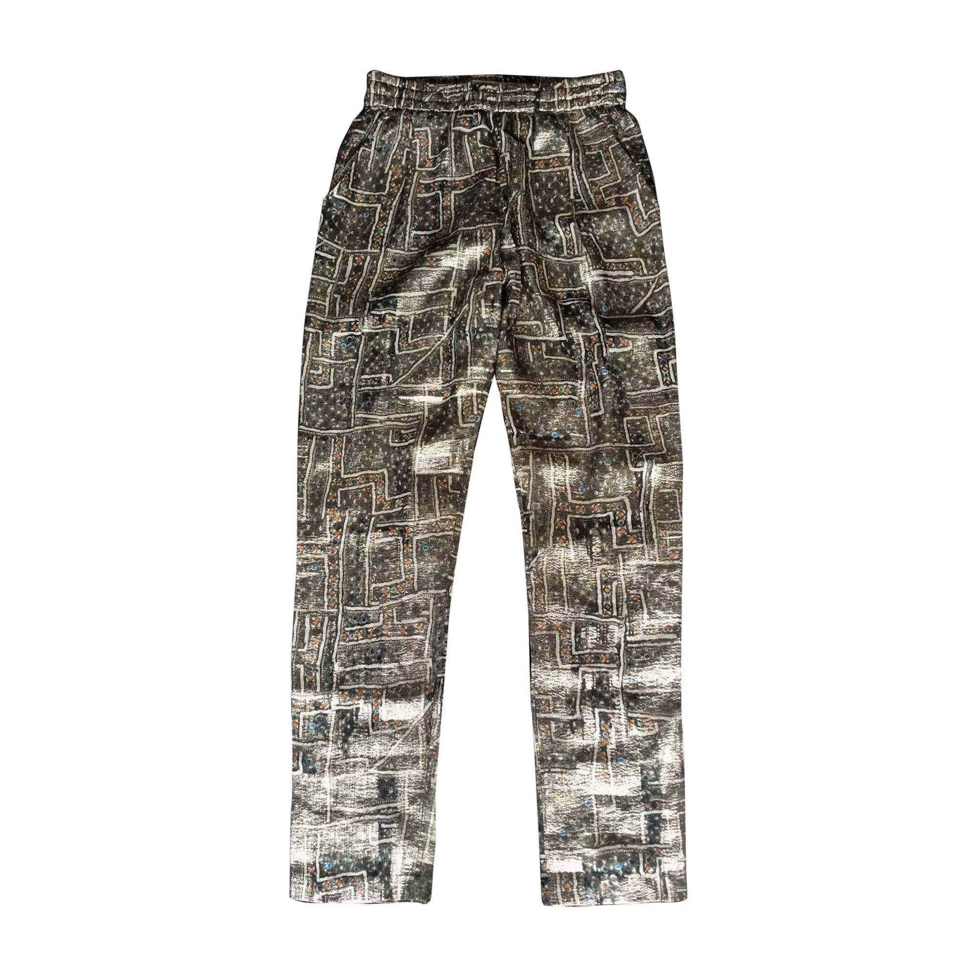Pantalon slim, cigarette ISABEL MARANT Doré, bronze, cuivre