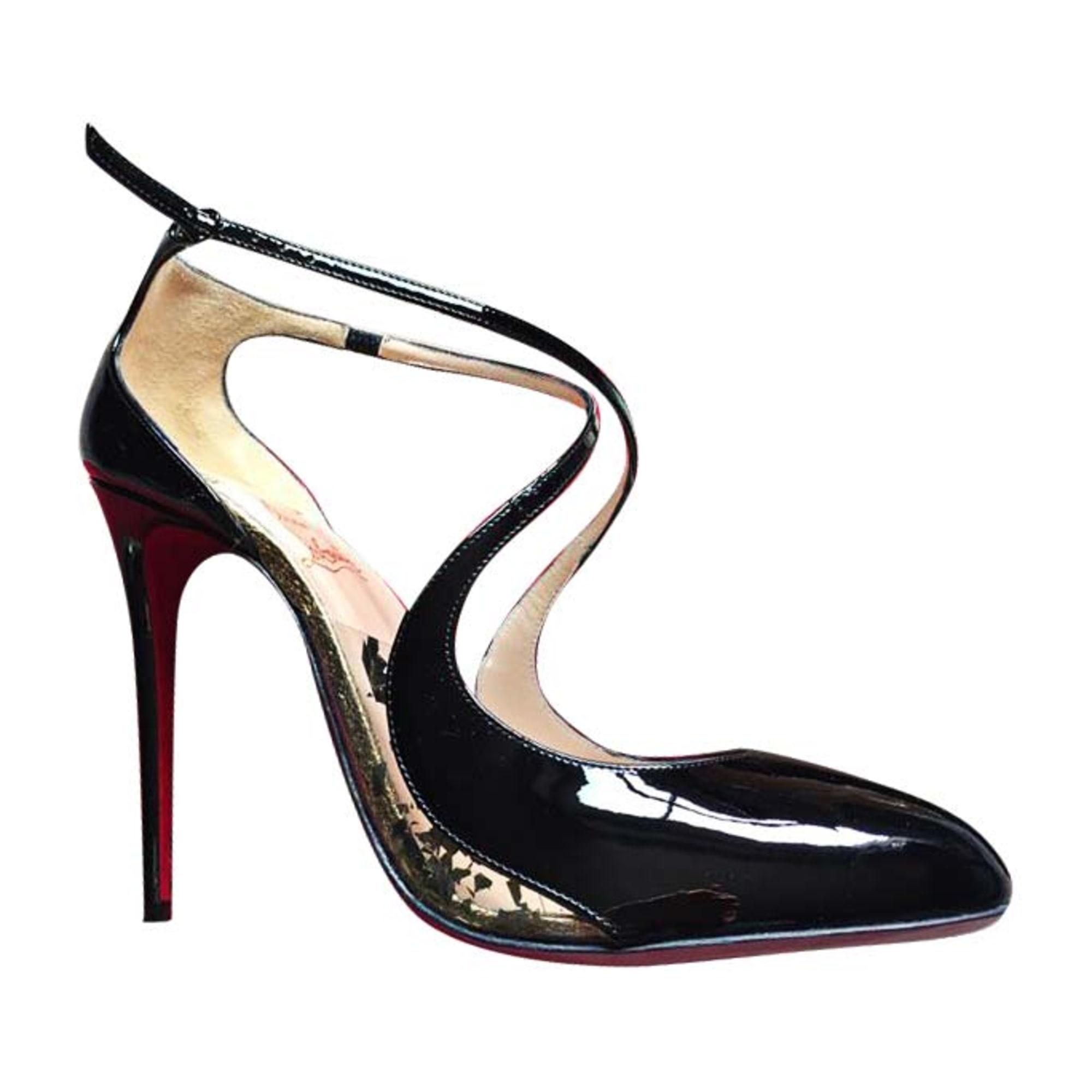 Sandales à talons CHRISTIAN LOUBOUTIN Noir