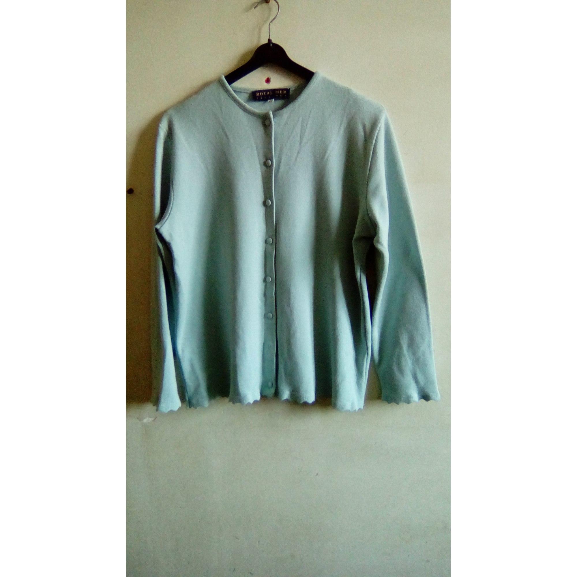 Gilet, cardigan ROYAL MER BRETAGNE Bleu, bleu marine, bleu turquoise