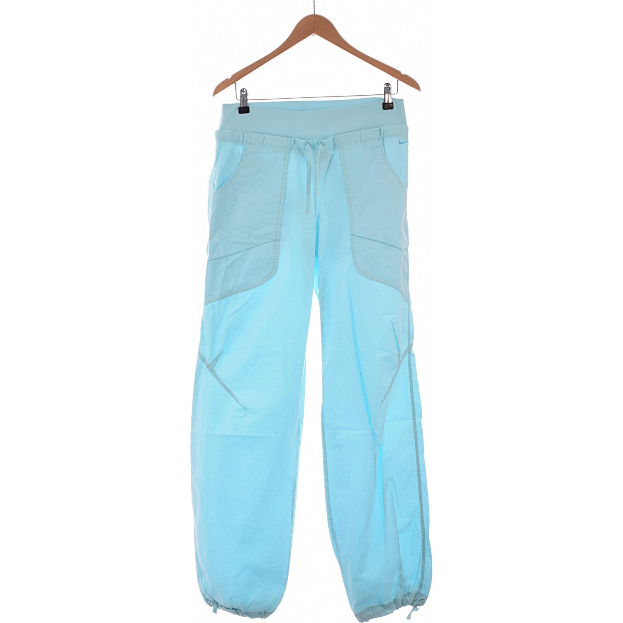 Pantalon droit NIKE Bleu, bleu marine, bleu turquoise