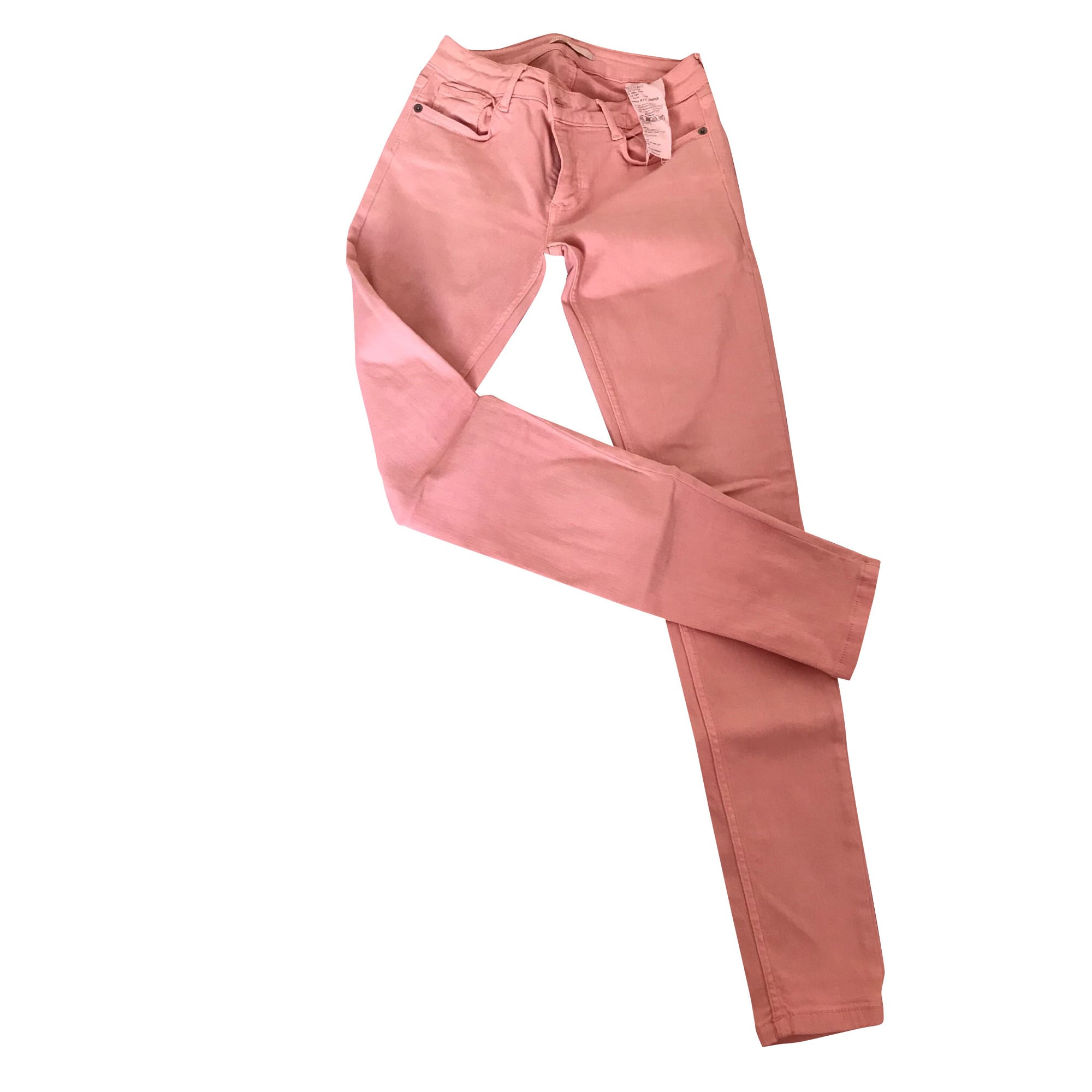 Jeans slim MAJE Rose, fuschia, vieux rose