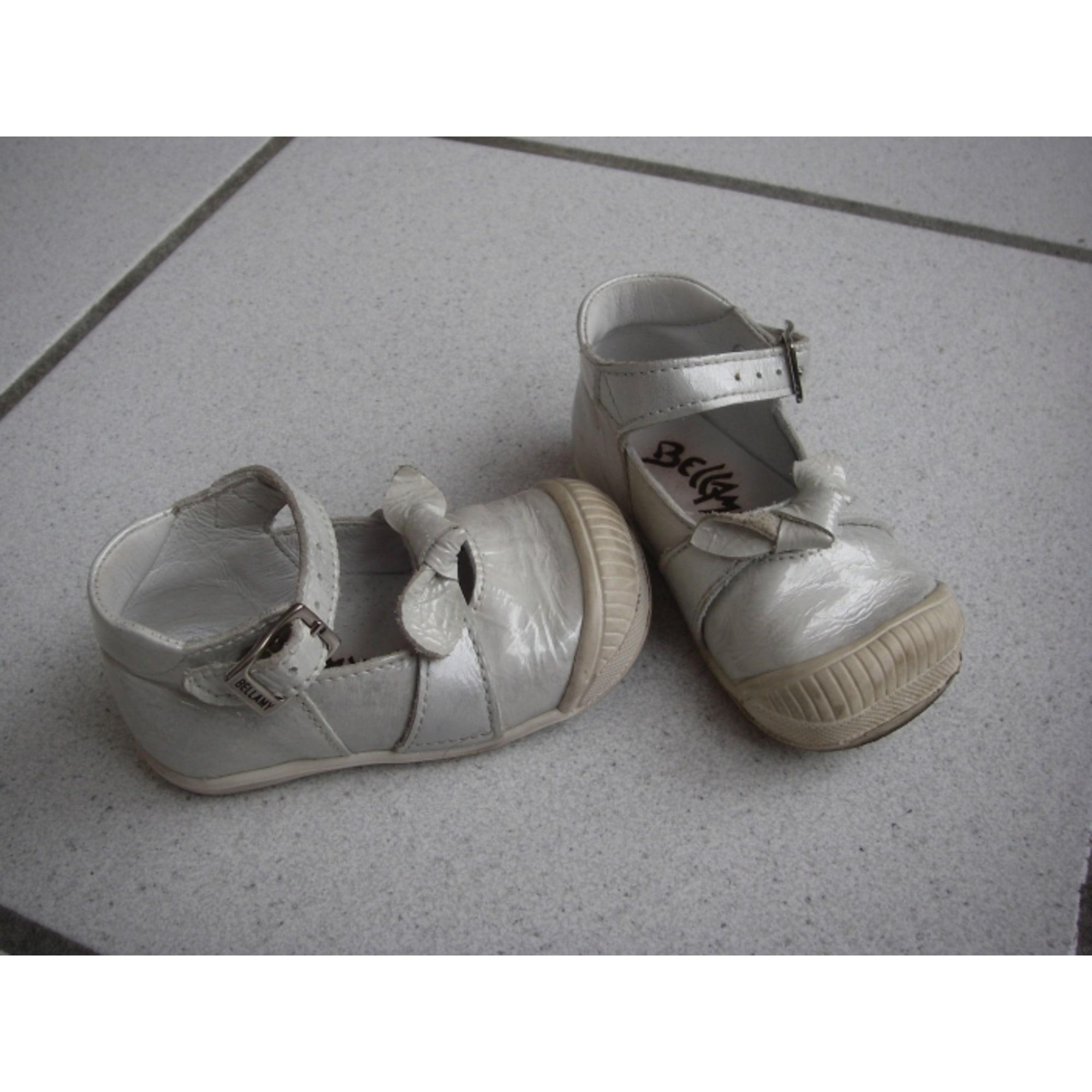 Chaussures à boucle BELLAMY GRIS NACRE ARGENTE