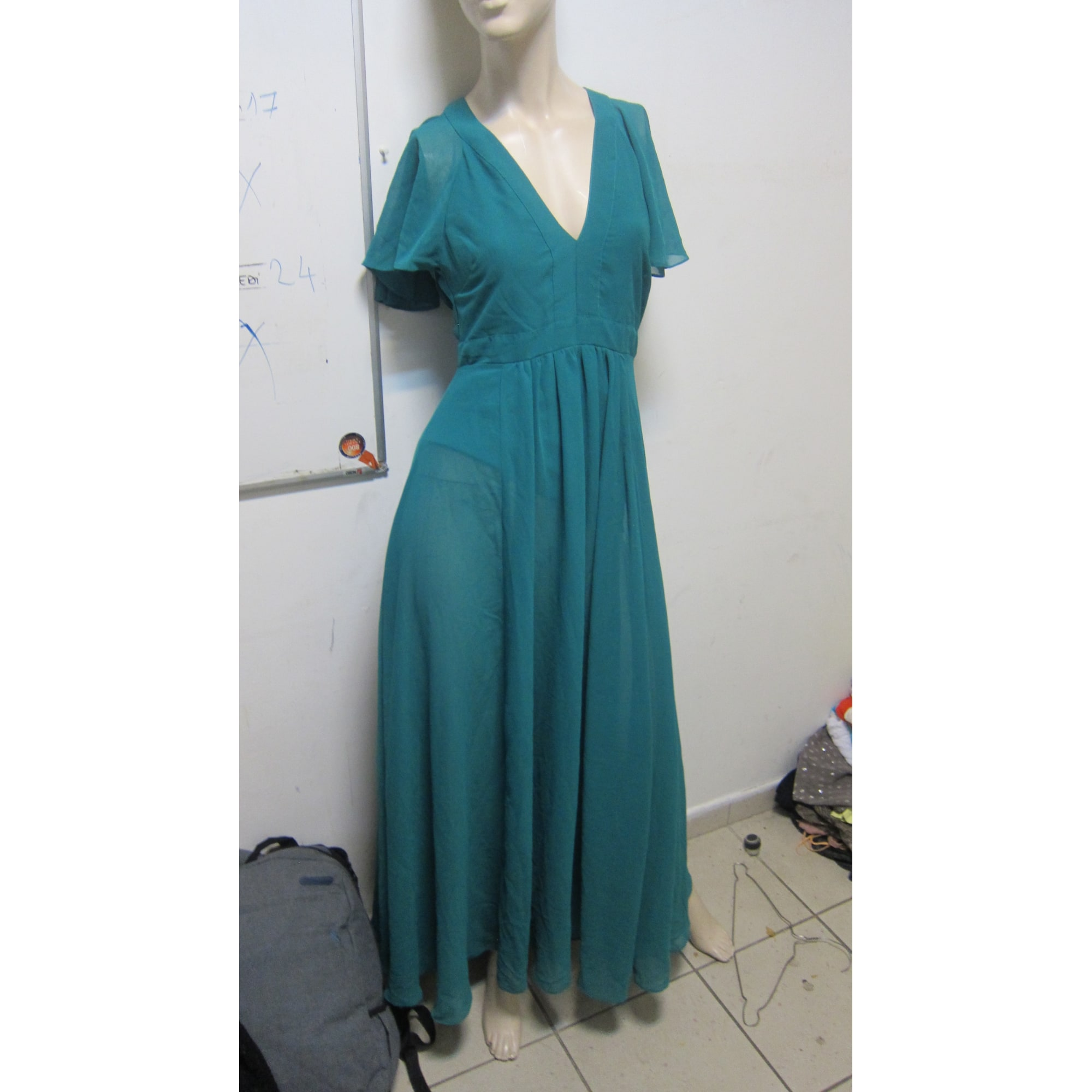 Robe longue ASOS Vert