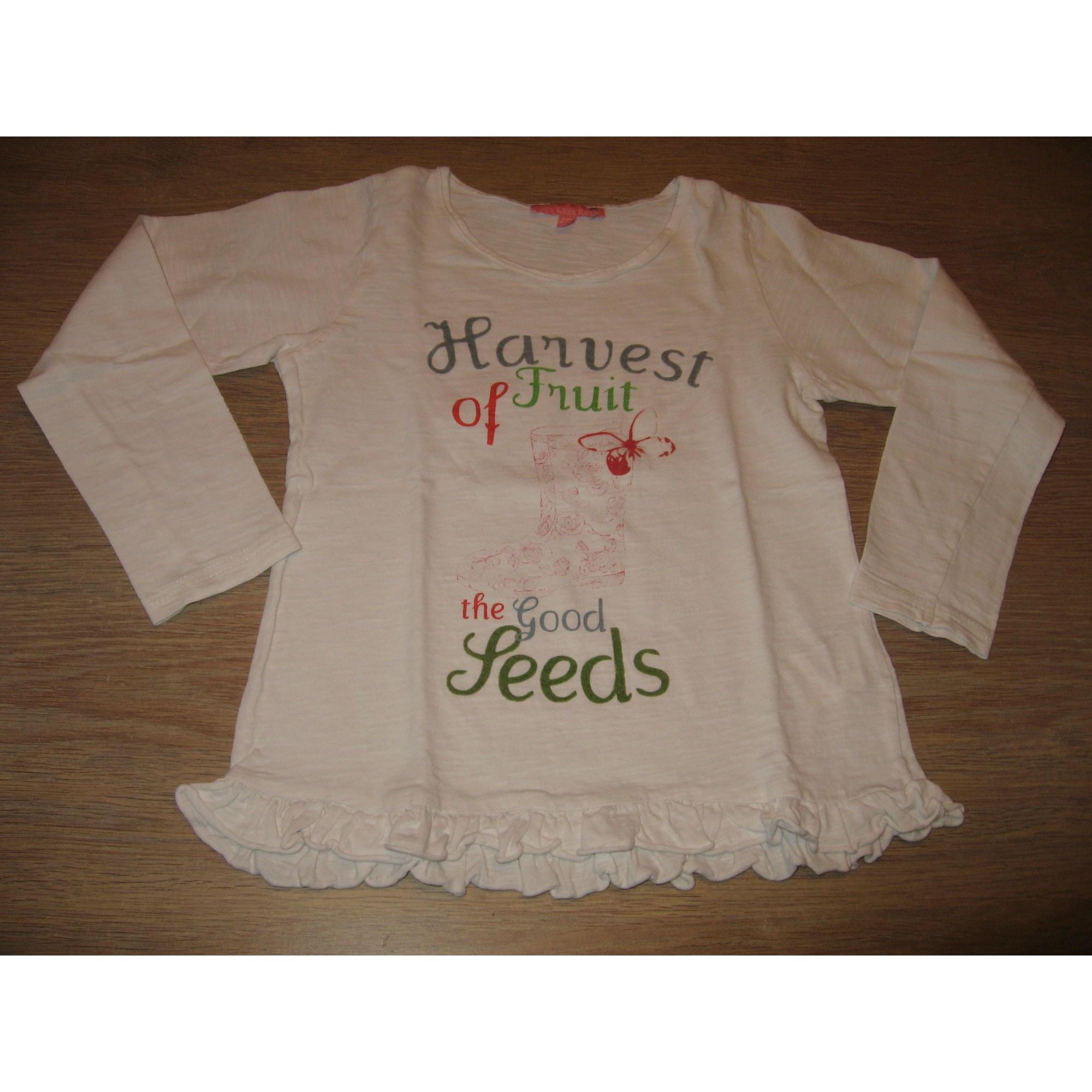 Top, Tee-shirt LISA ROSE Blanc, blanc cassé, écru