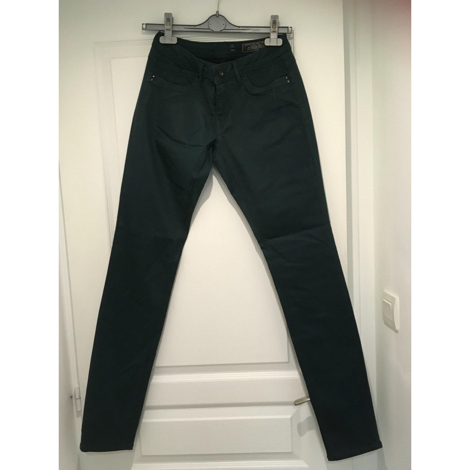 Pantalon slim, cigarette ESPRIT Vert