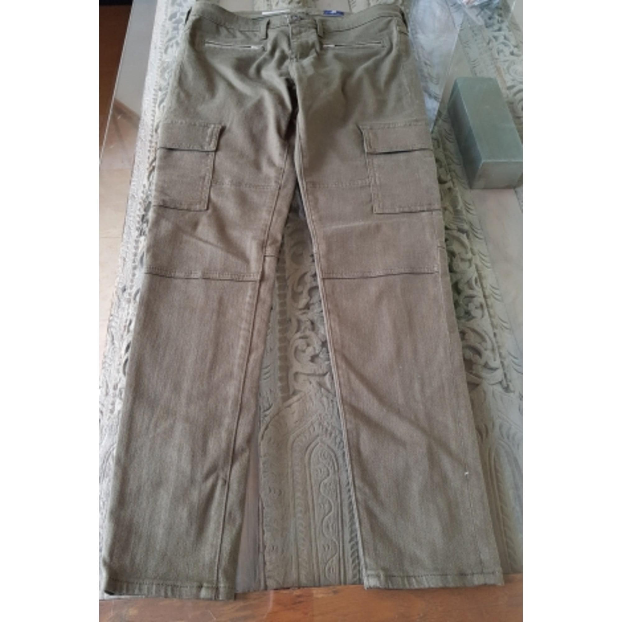 Pantalon slim, cigarette ADRIANO GOLDSCHMIED Kaki