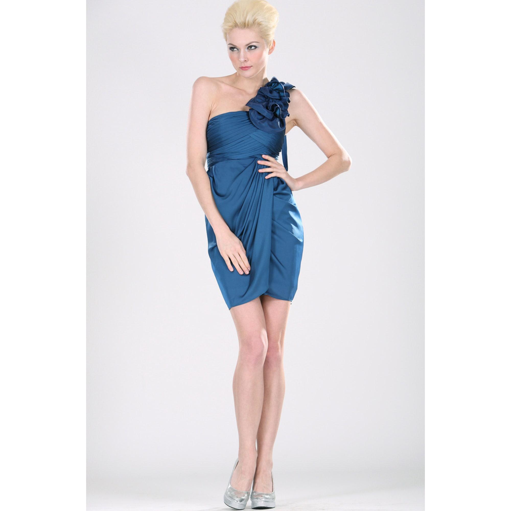 Robe courte EDRESSIT Bleu, bleu marine, bleu turquoise