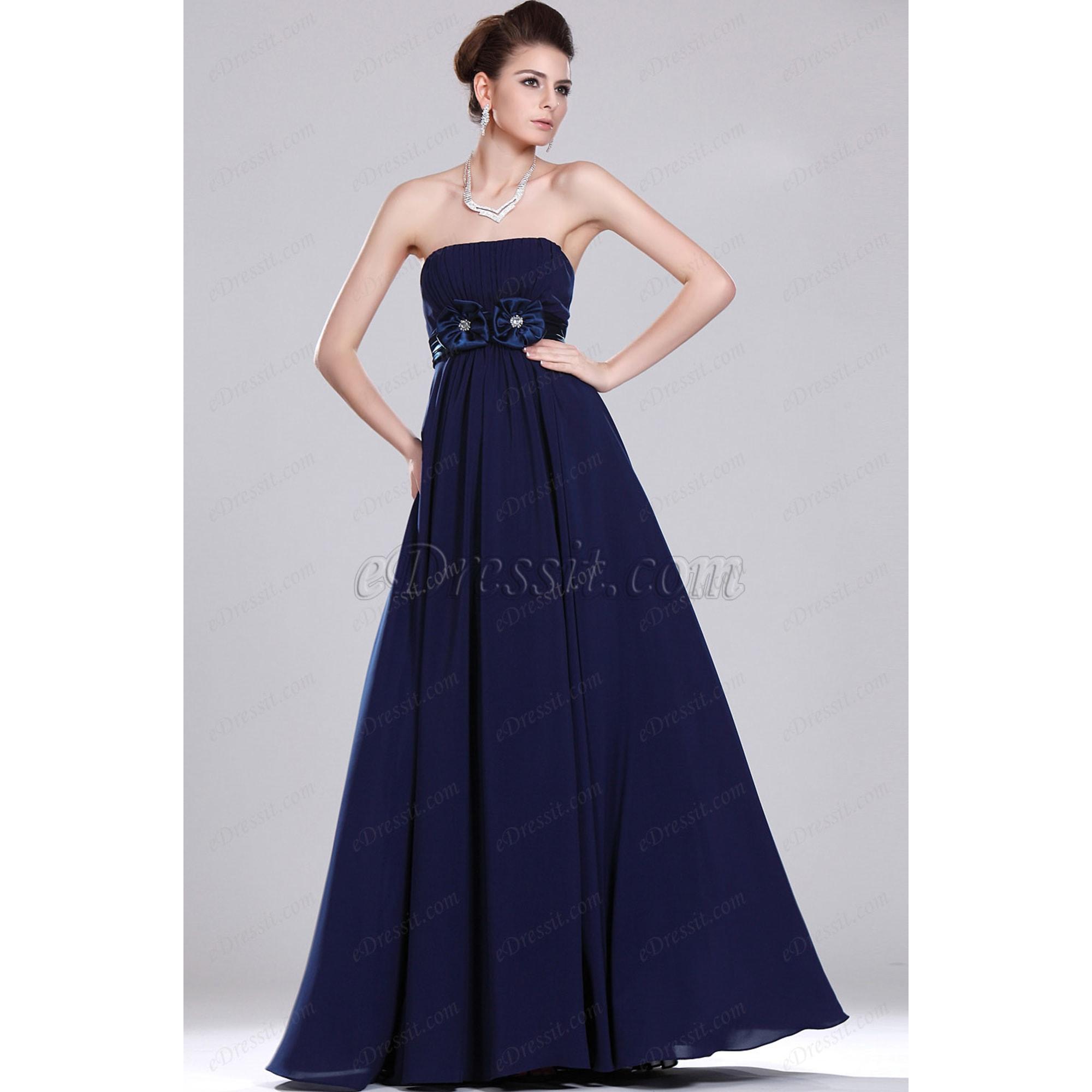 Robe longue EDRESSIT Bleu, bleu marine, bleu turquoise