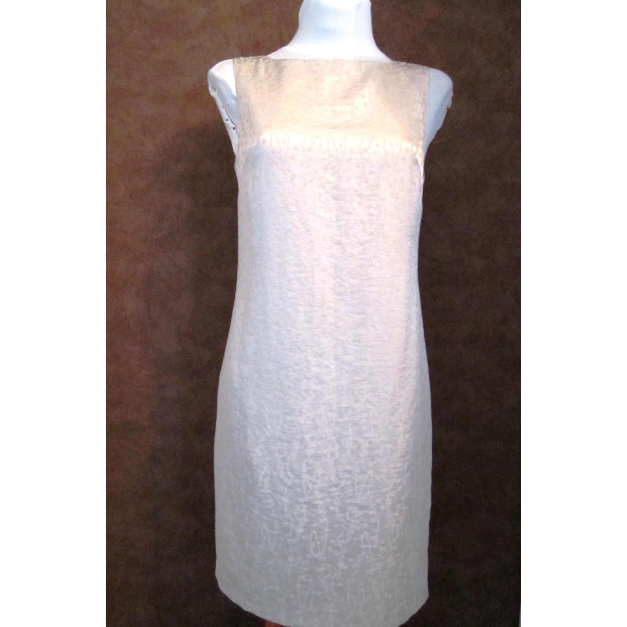 Robe mi-longue PROMOD Blanc, blanc cassé, écru