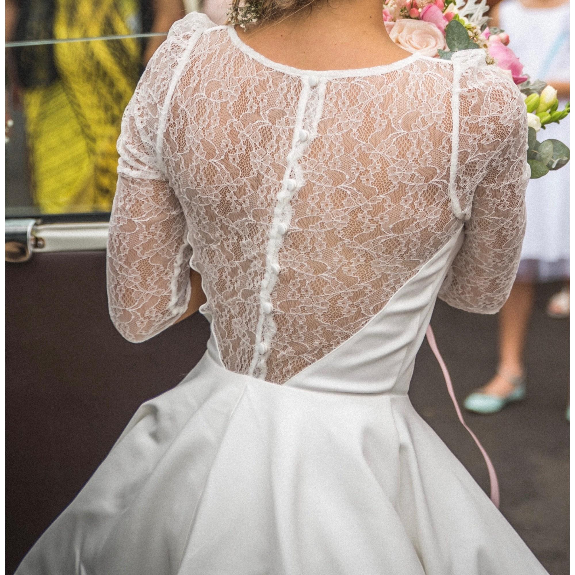 Robe De Mariee La Redoute 34 Xs T0 Blanc 7497598