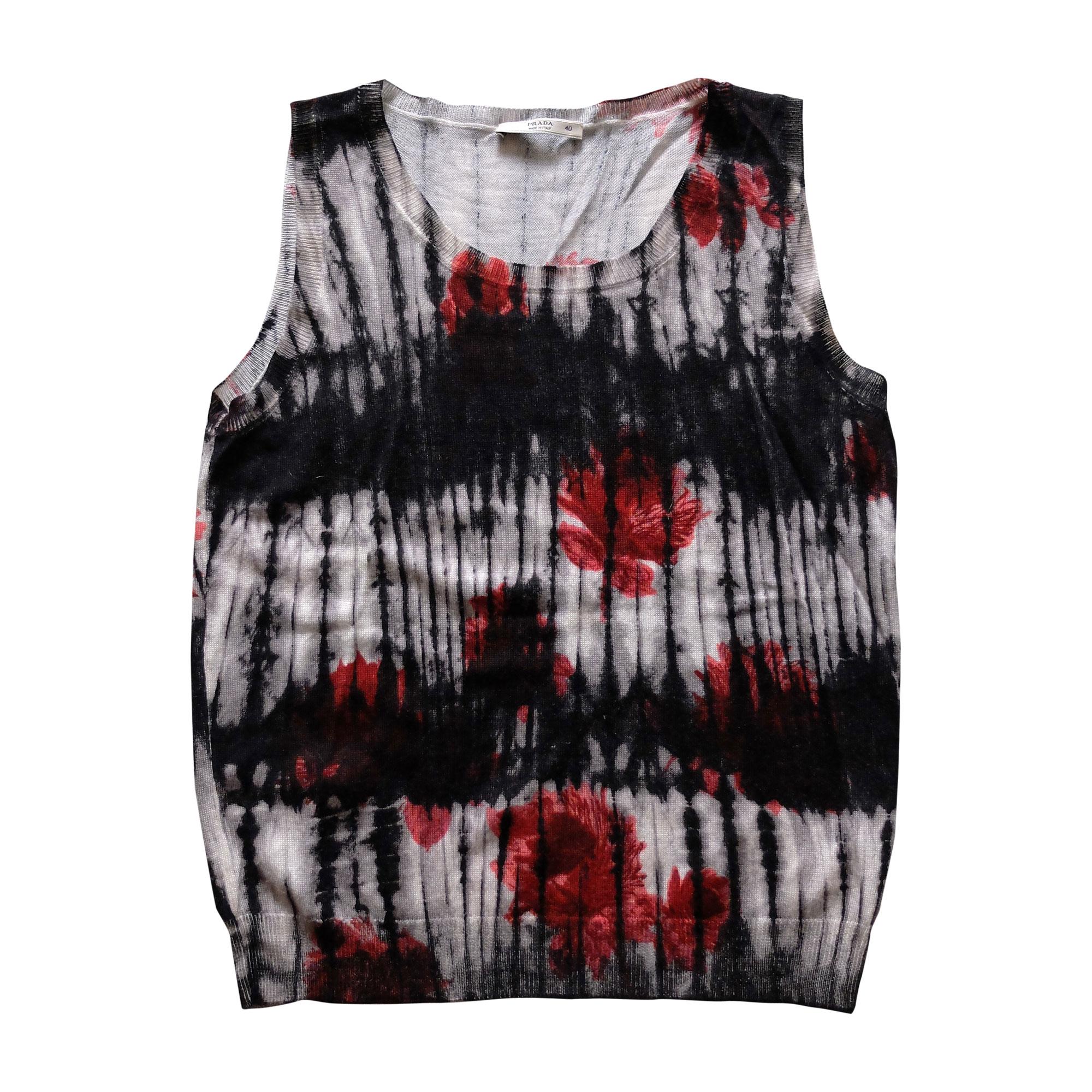 Top, tee-shirt PRADA Noir