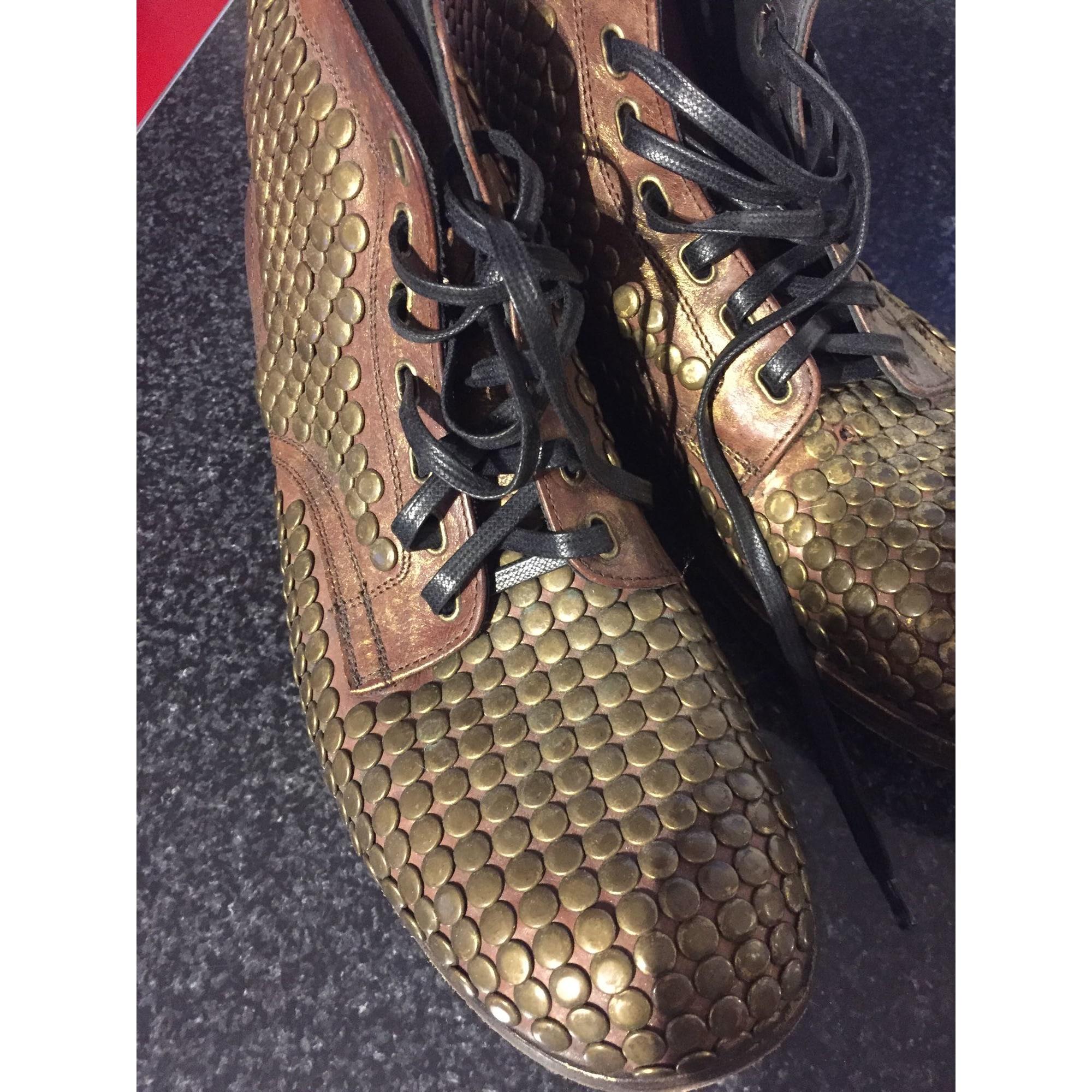 Lace Up Shoes DOLCE & GABBANA Golden, bronze, copper