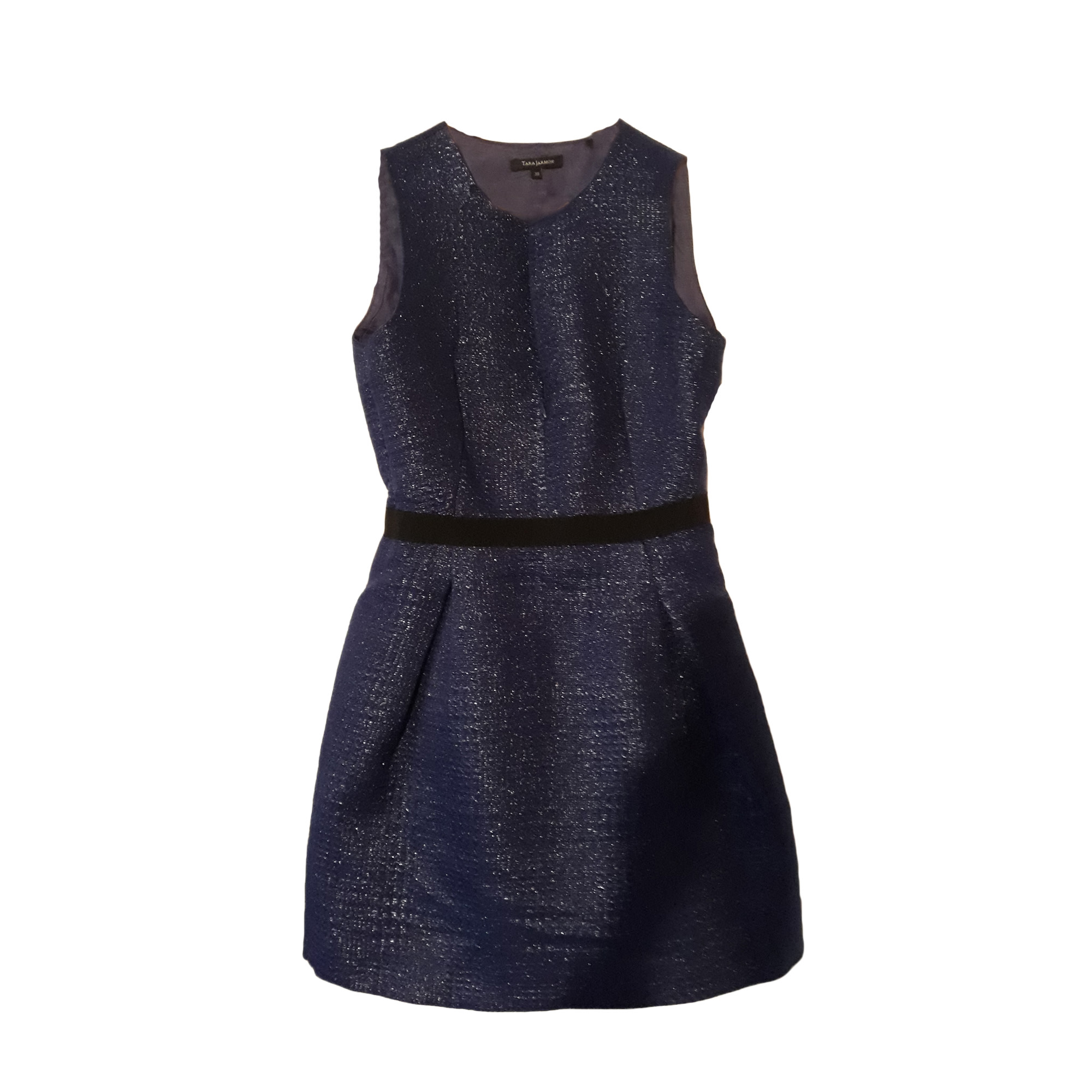 Robe courte TARA JARMON Bleu, bleu marine, bleu turquoise