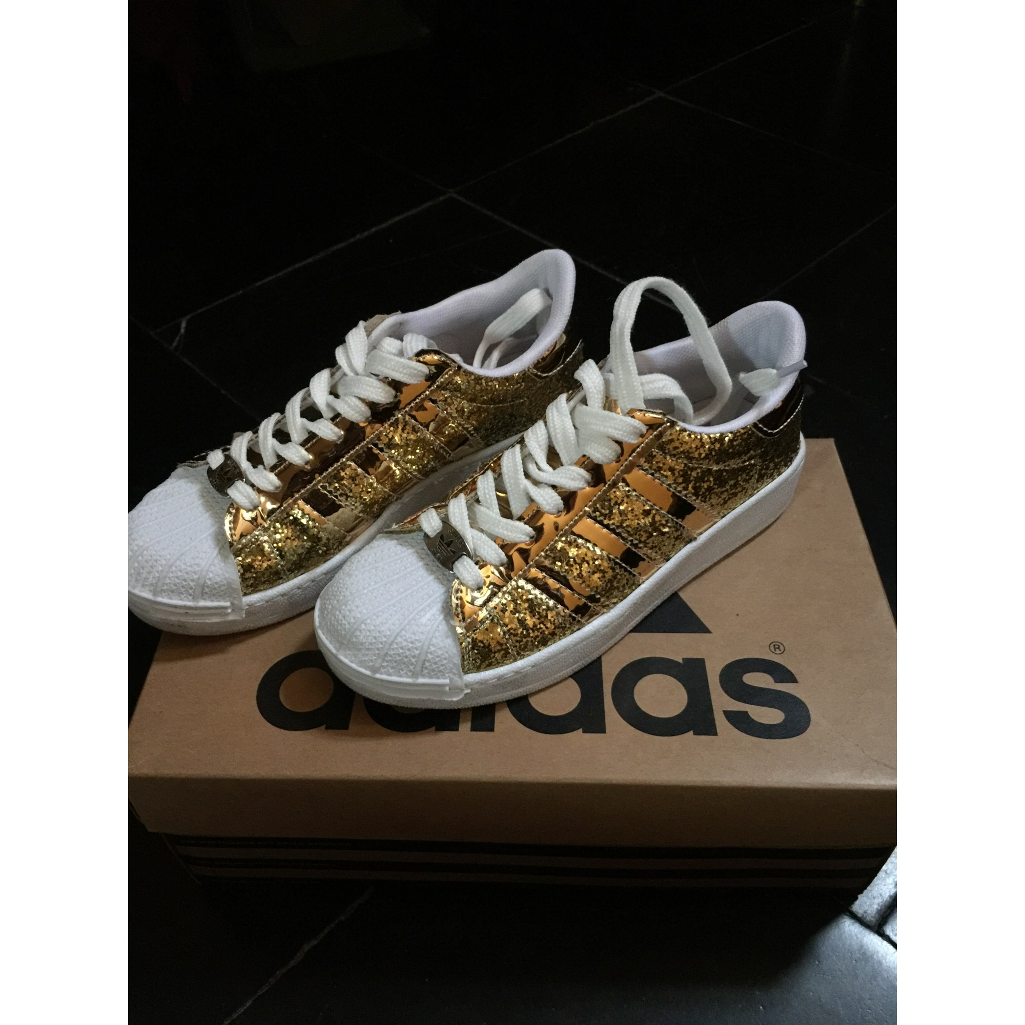 Sneakers ADIDAS Superstar Gold, Bronze, Kupfer