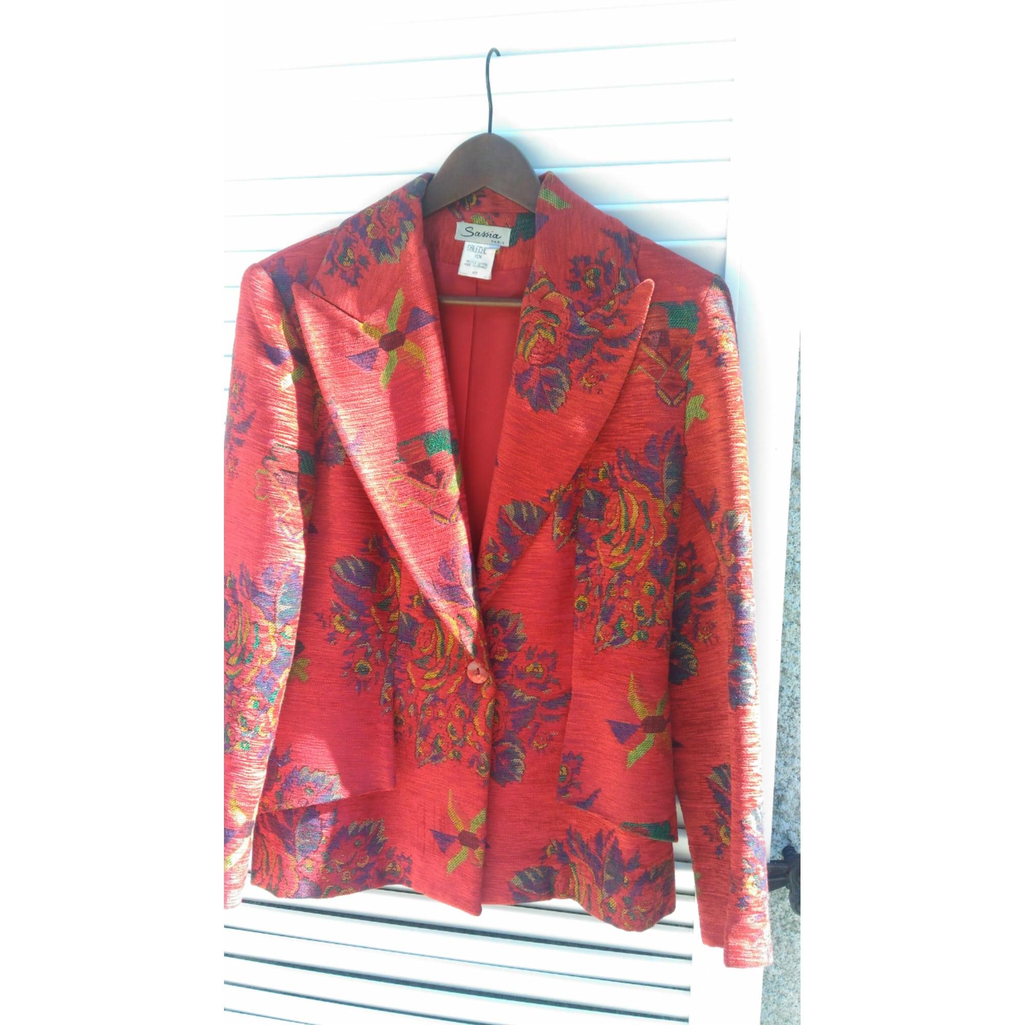Blazer, veste tailleur SASSIA Rouge, bordeaux