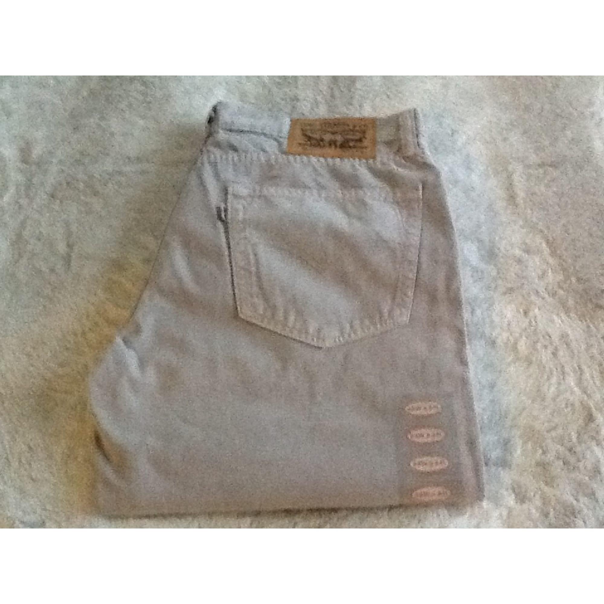 Pantalon droit LEVI'S Gris, anthracite