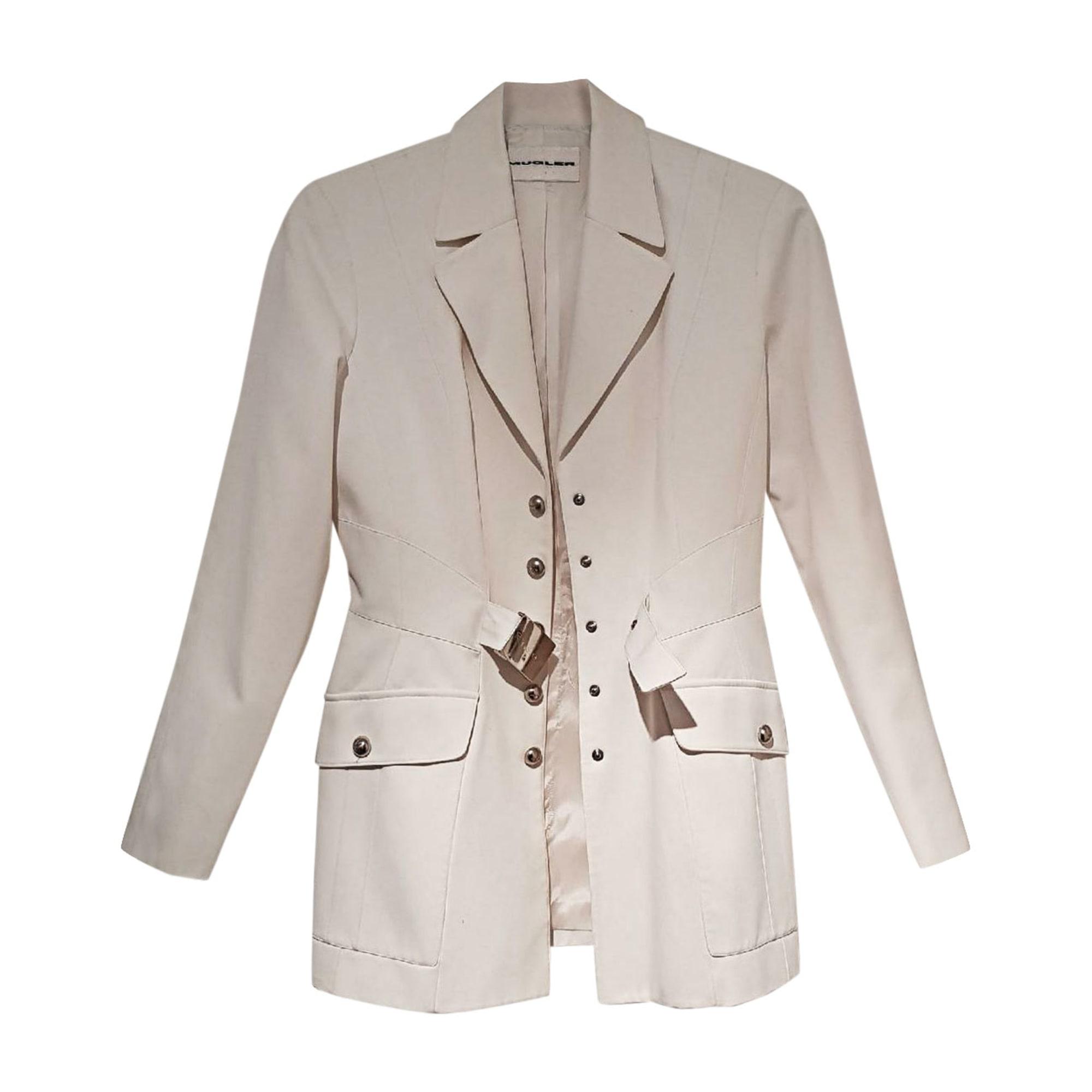 Blazer, veste tailleur THIERRY MUGLER Blanc, blanc cassé, écru