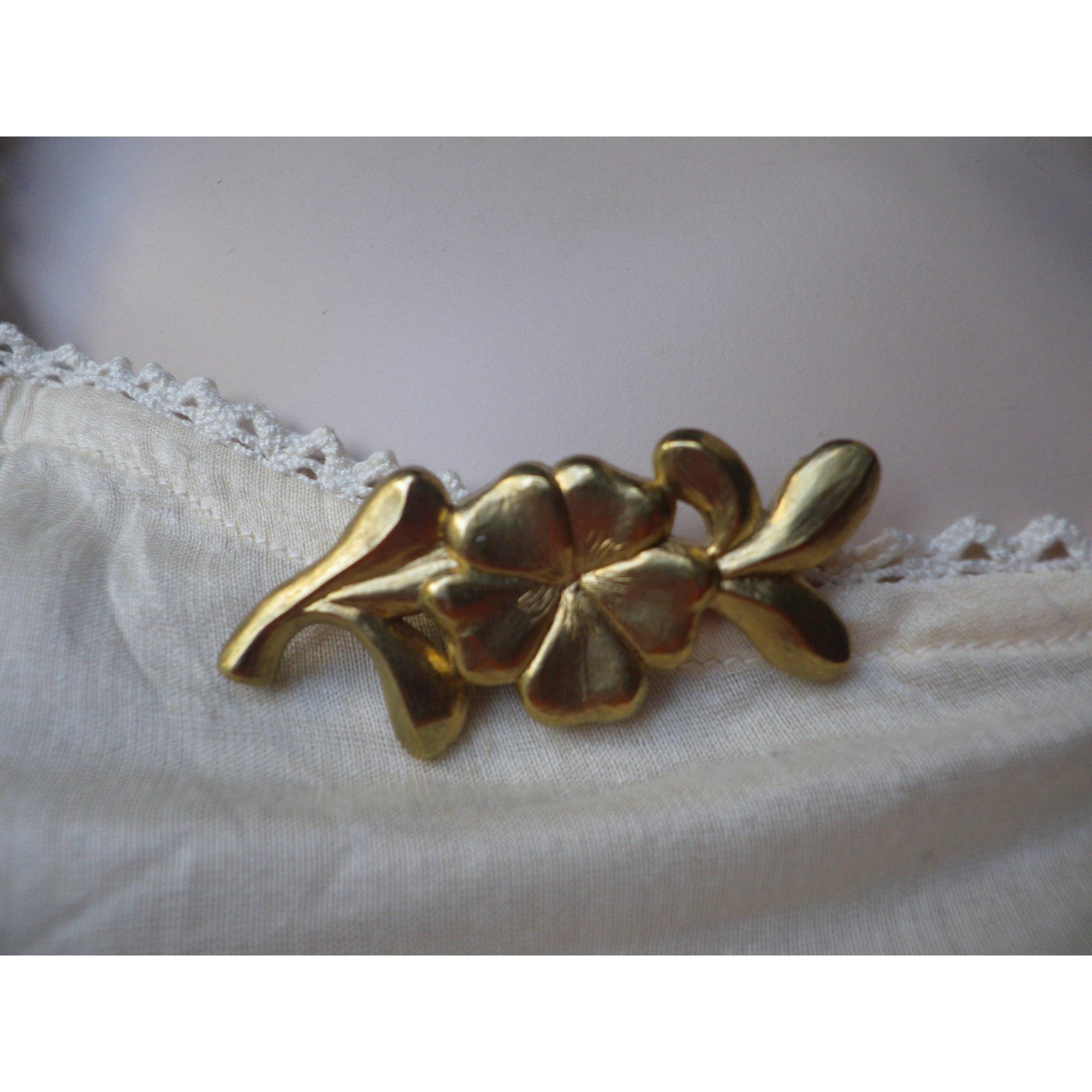 Broche JACQUES ESTEREL Doré, bronze, cuivre