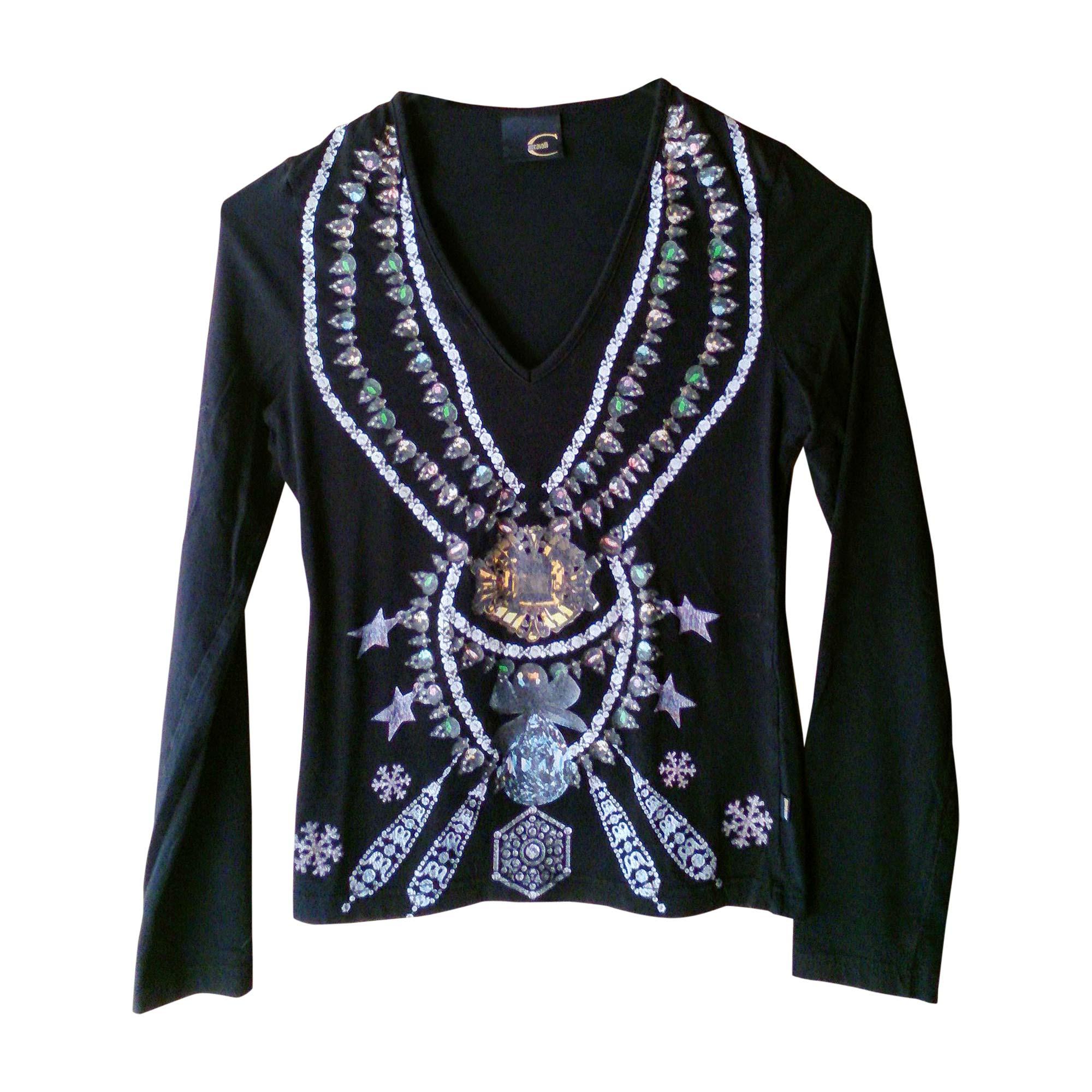 Top, tee-shirt JUST CAVALLI Noir